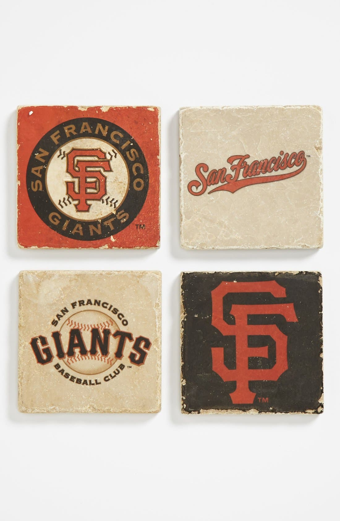 Alternate Image 1 Selected - 'San Francisco Giants' Marble Coasters (Set of 4)