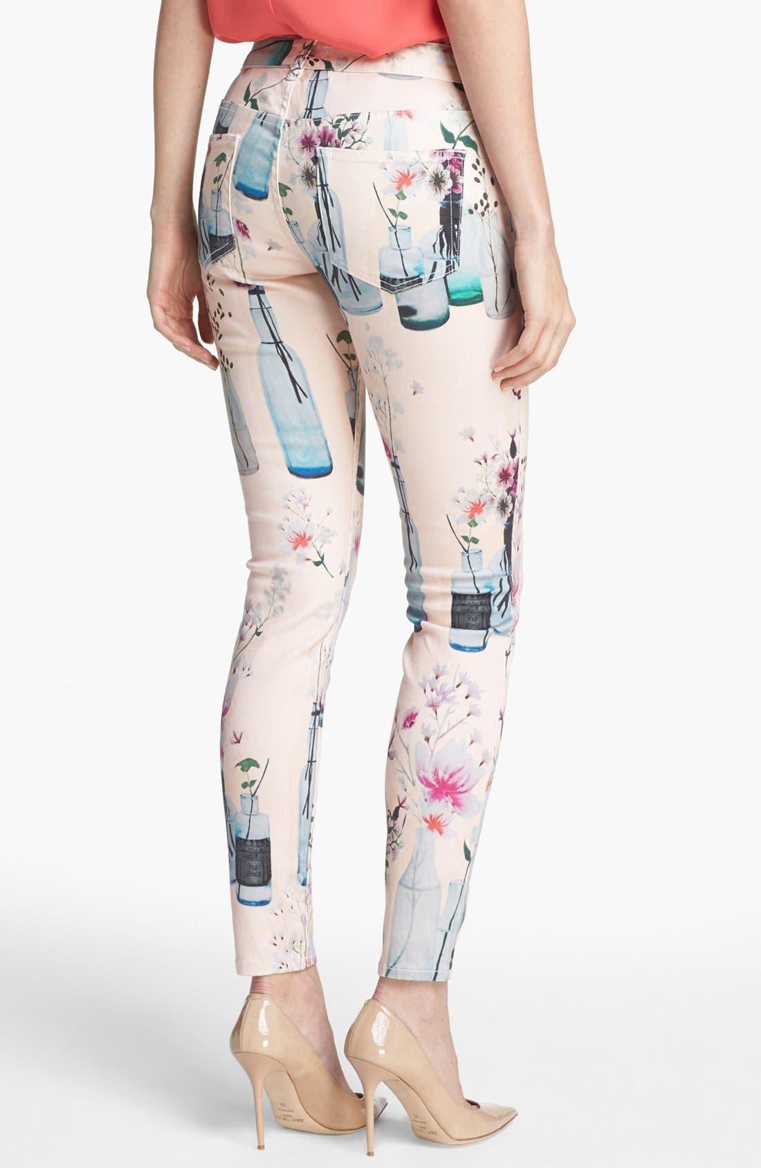 Alternate Image 2  - Ted Baker London 'Water Bottle' Skinny Stretch Ankle Jeans (Shell)