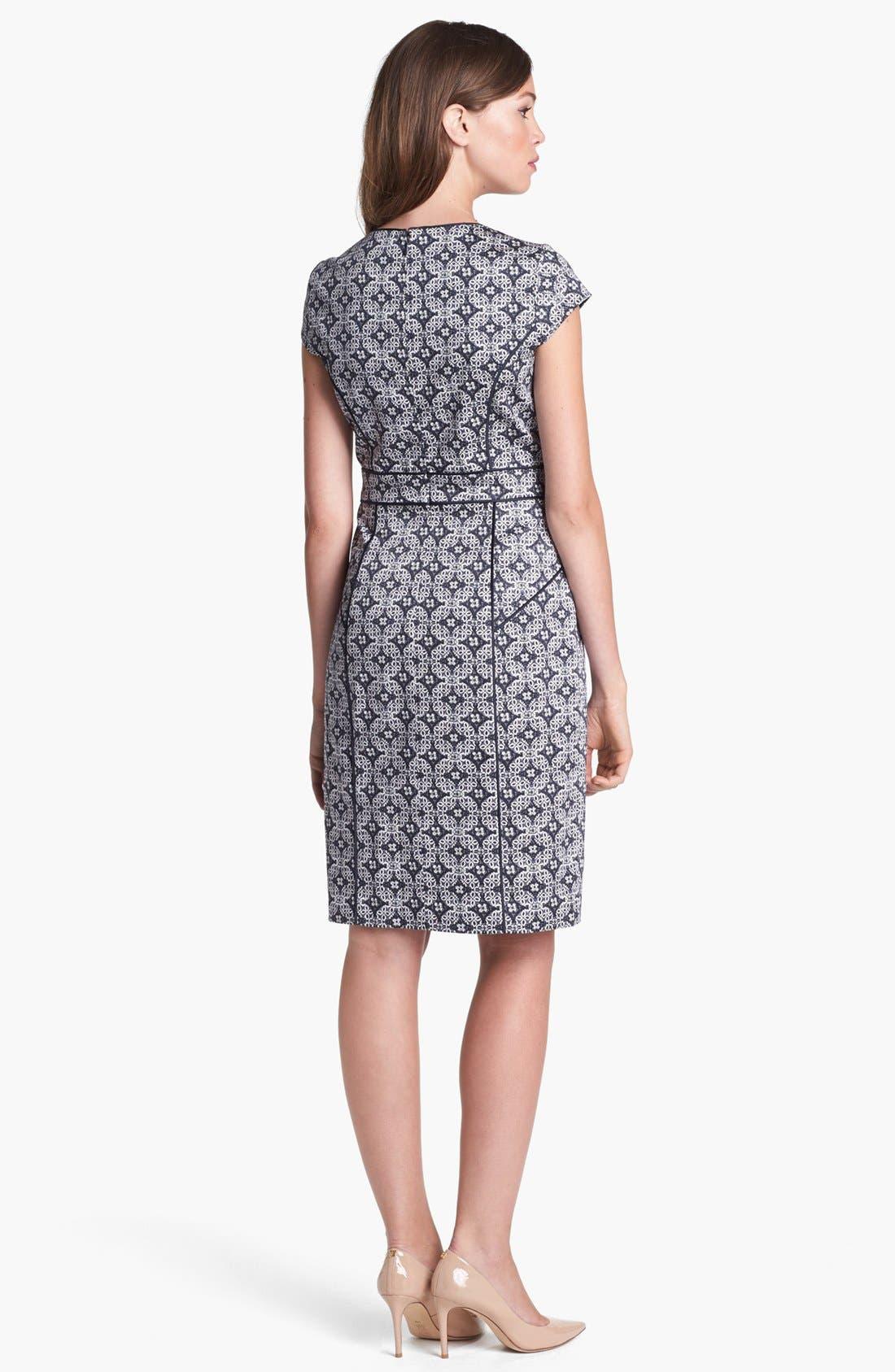 Alternate Image 2  - Adrianna Papell Mosaic Print Dress