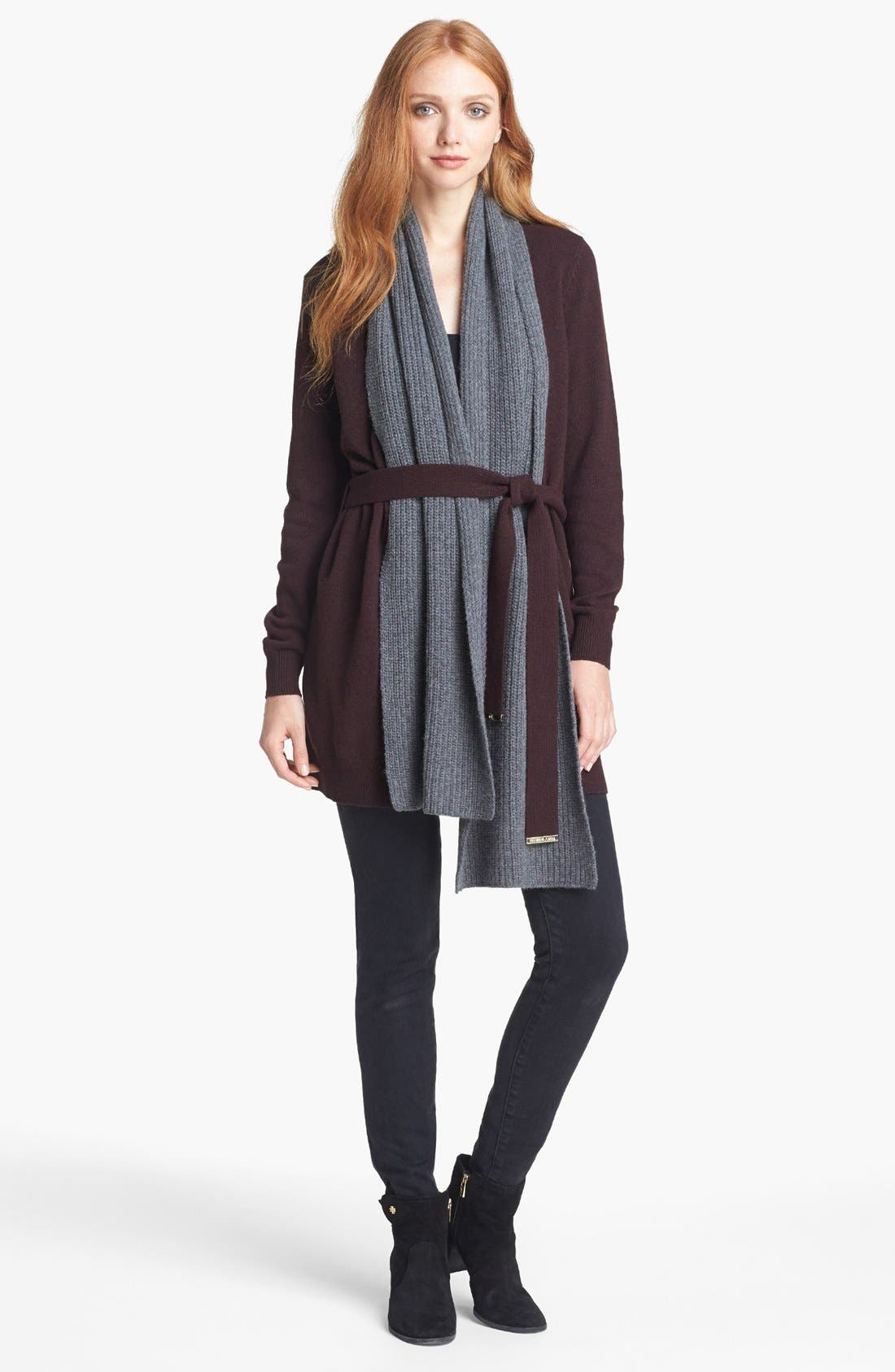 Alternate Image 6  - Tory Burch 'Gwen' Cardigan with Scarf