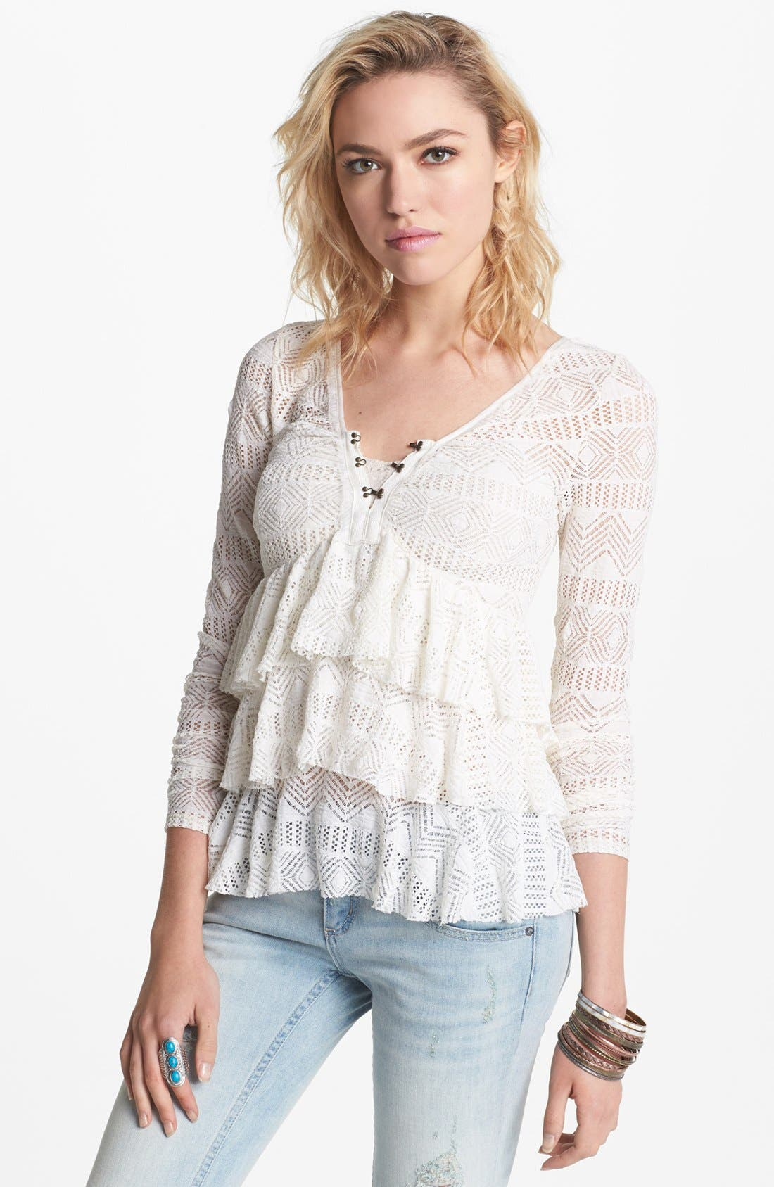 Main Image - Free People 'Sweet Dream' Ruffle Top
