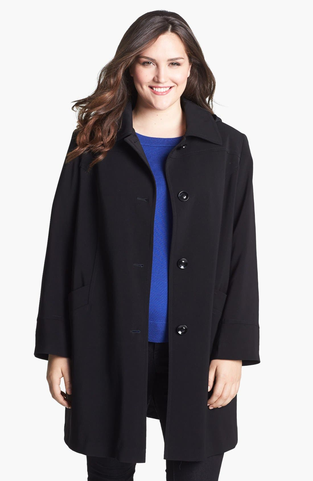 Alternate Image 1 Selected - Gallery 'Napage' Raincoat (Plus Size)