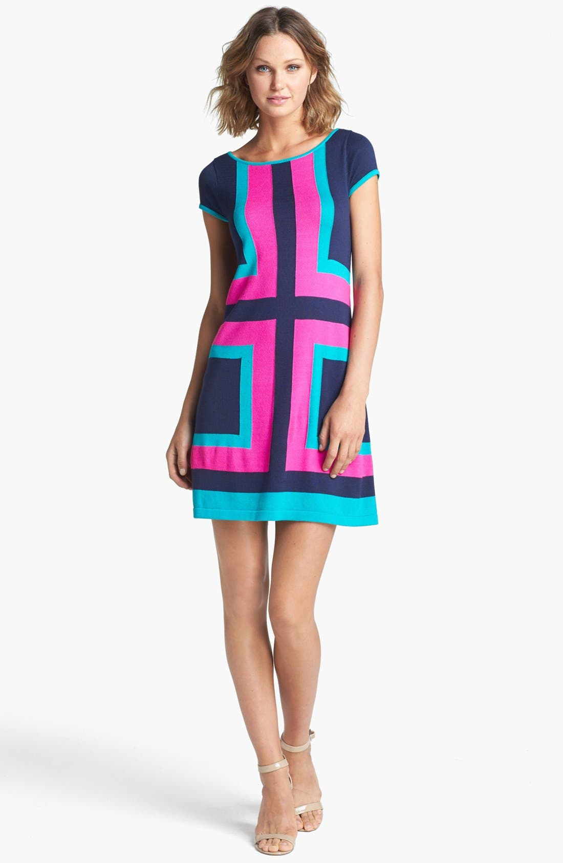 Main Image - Lilly Pulitzer® 'Isabella' Colorblock Sweater Dress