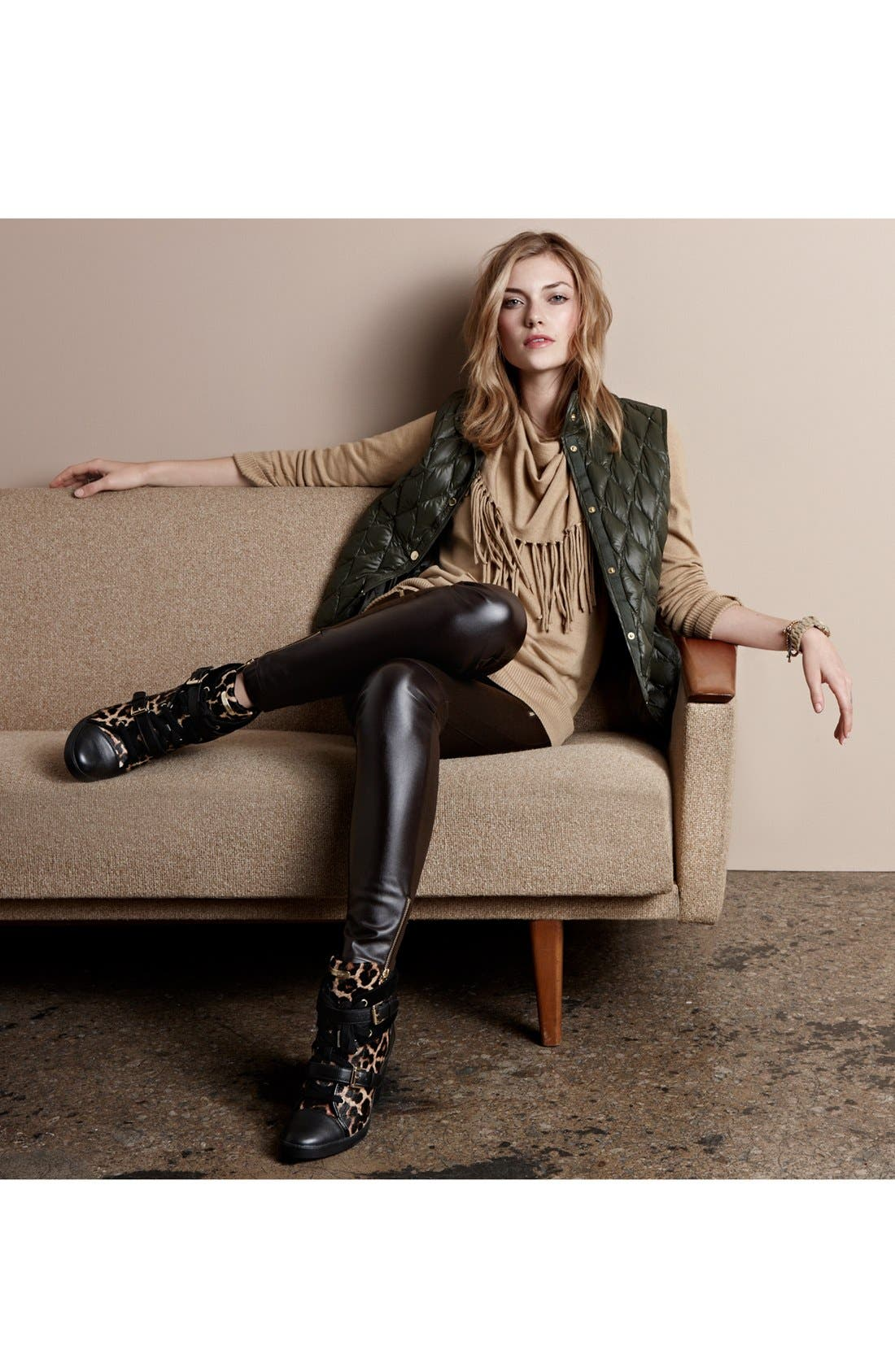Alternate Image 1 Selected - MICHAEL Michael Kors Down Vest, Sweater, Pants & Accessories