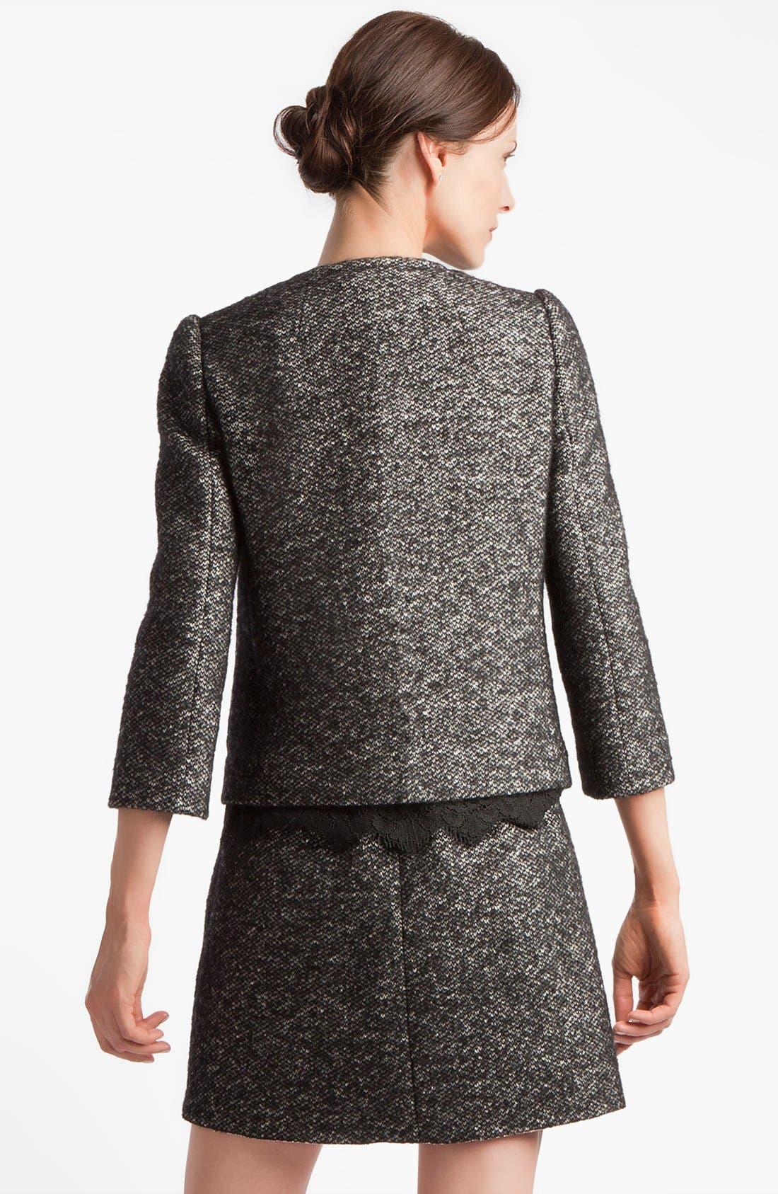 Alternate Image 4  - Dolce&Gabbana Collarless Tweed Jacket