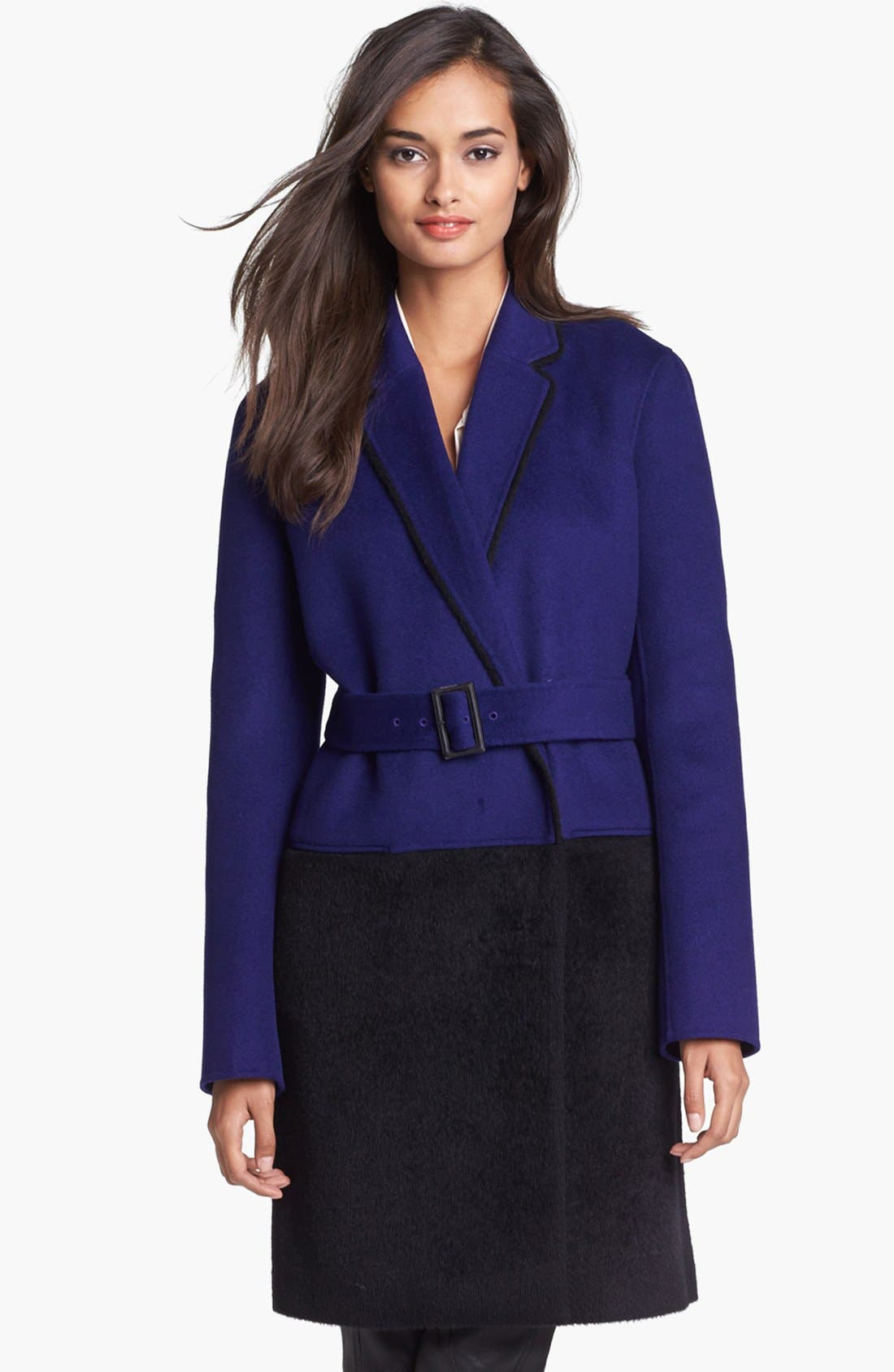 Alternate Image 1 Selected - Diane von Furstenberg 'Logan' Colorblock Overcoat