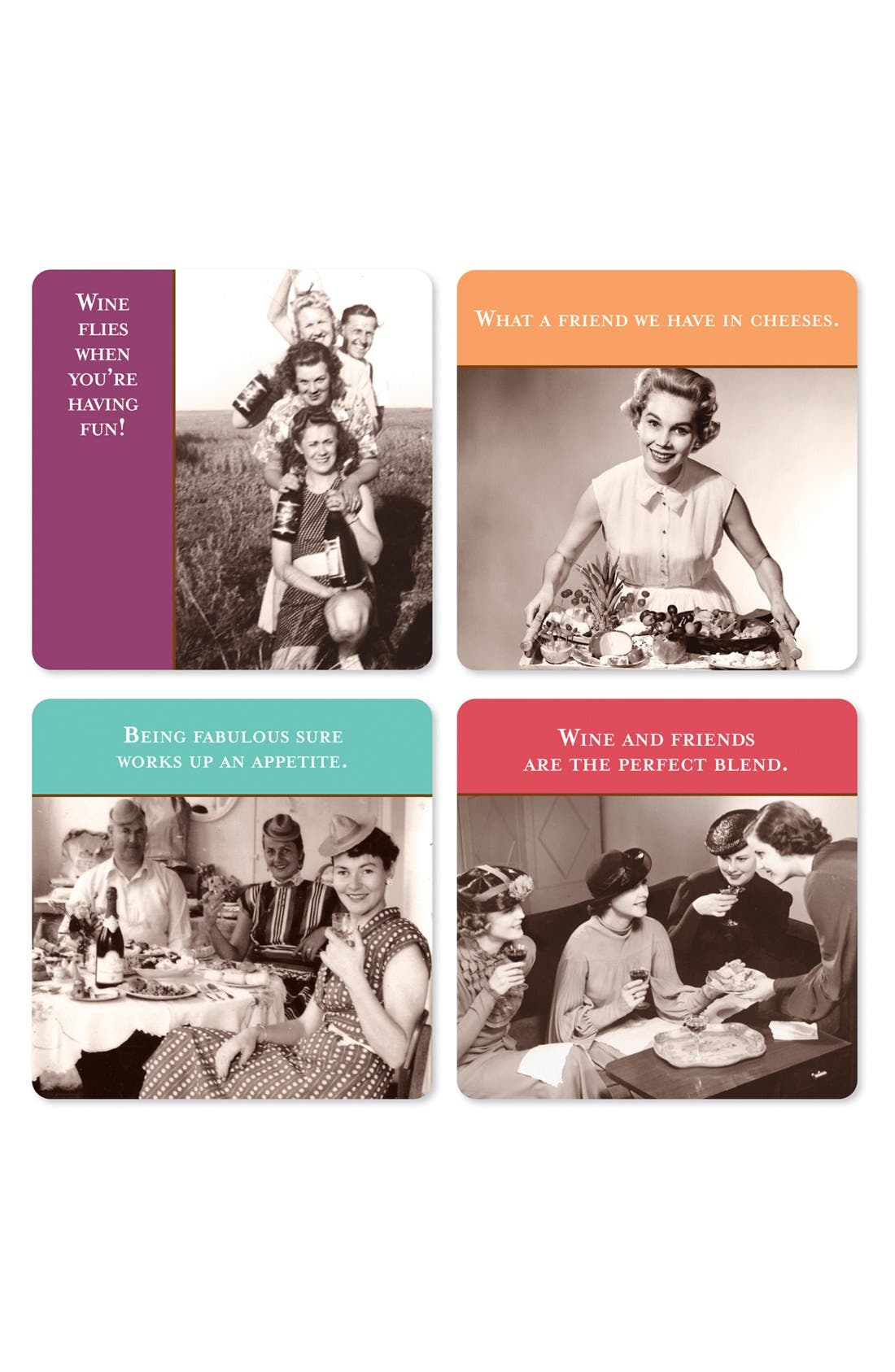 Alternate Image 1 Selected - 'Wine Flies' Assorted Coasters
