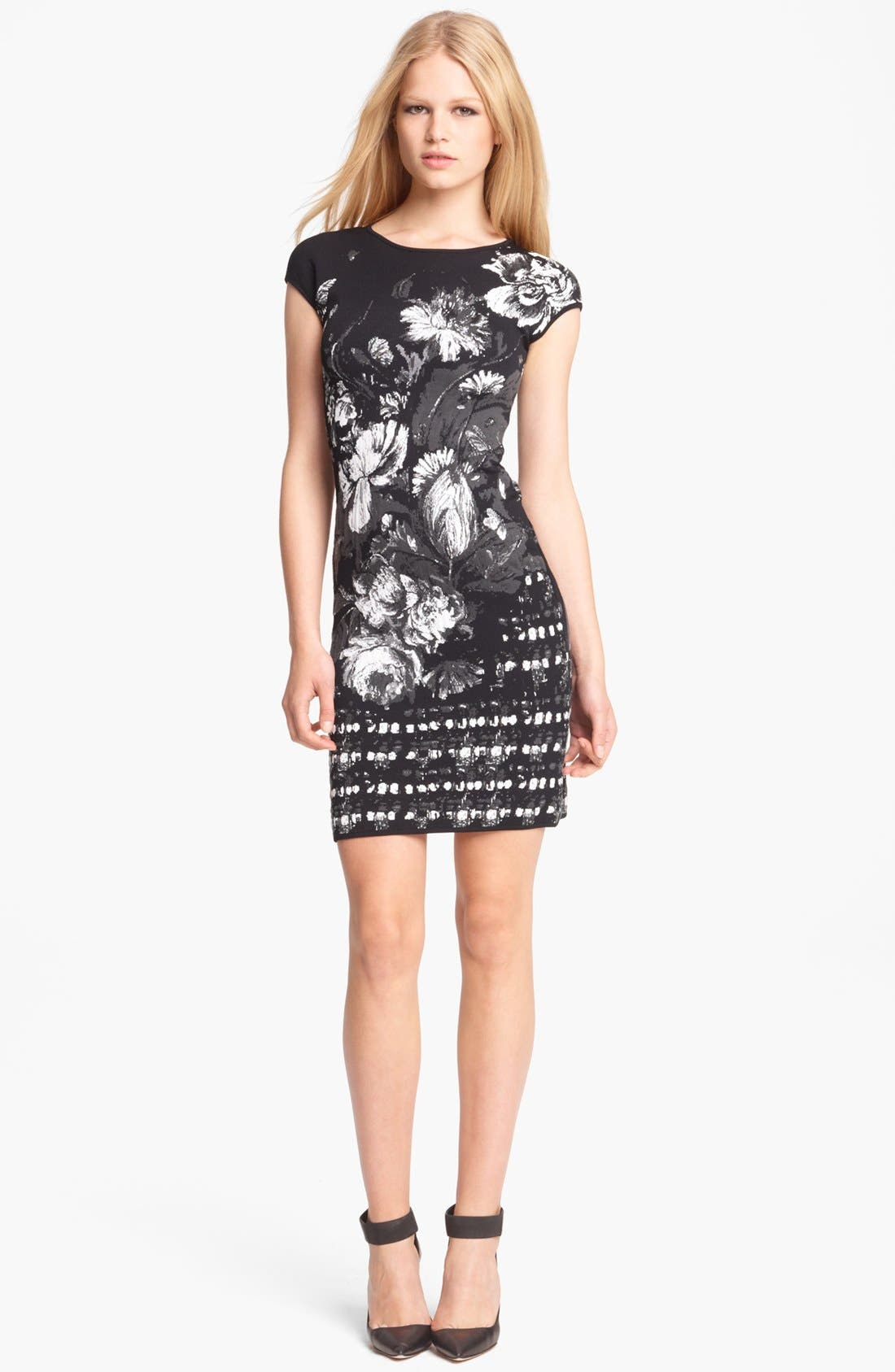 Alternate Image 1 Selected - Roberto Cavalli Floral Jacquard Knit Dress