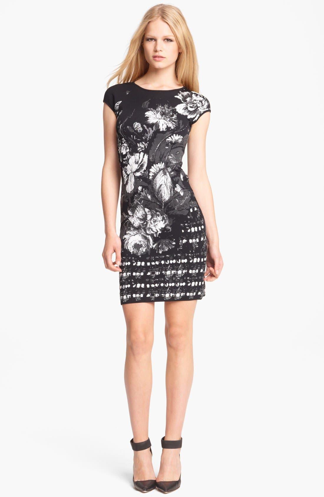 Main Image - Roberto Cavalli Floral Jacquard Knit Dress