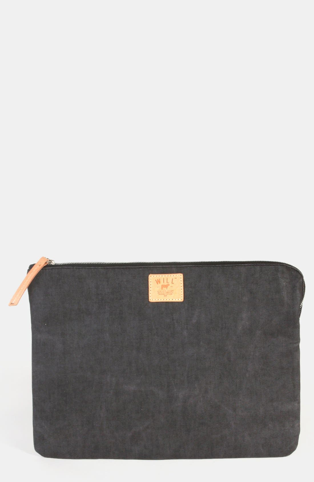 Alternate Image 1 Selected - Will Leather Goods Coated Canvas Laptop Case