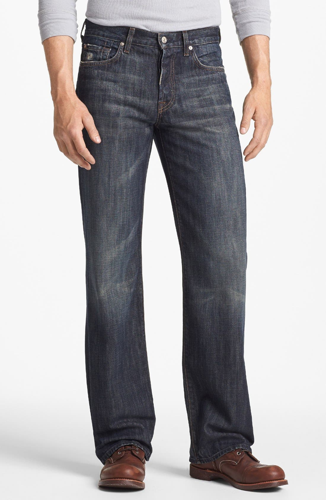 Alternate Image 2  - 7 For All Mankind® Relaxed Straight Leg Jeans (Montana)