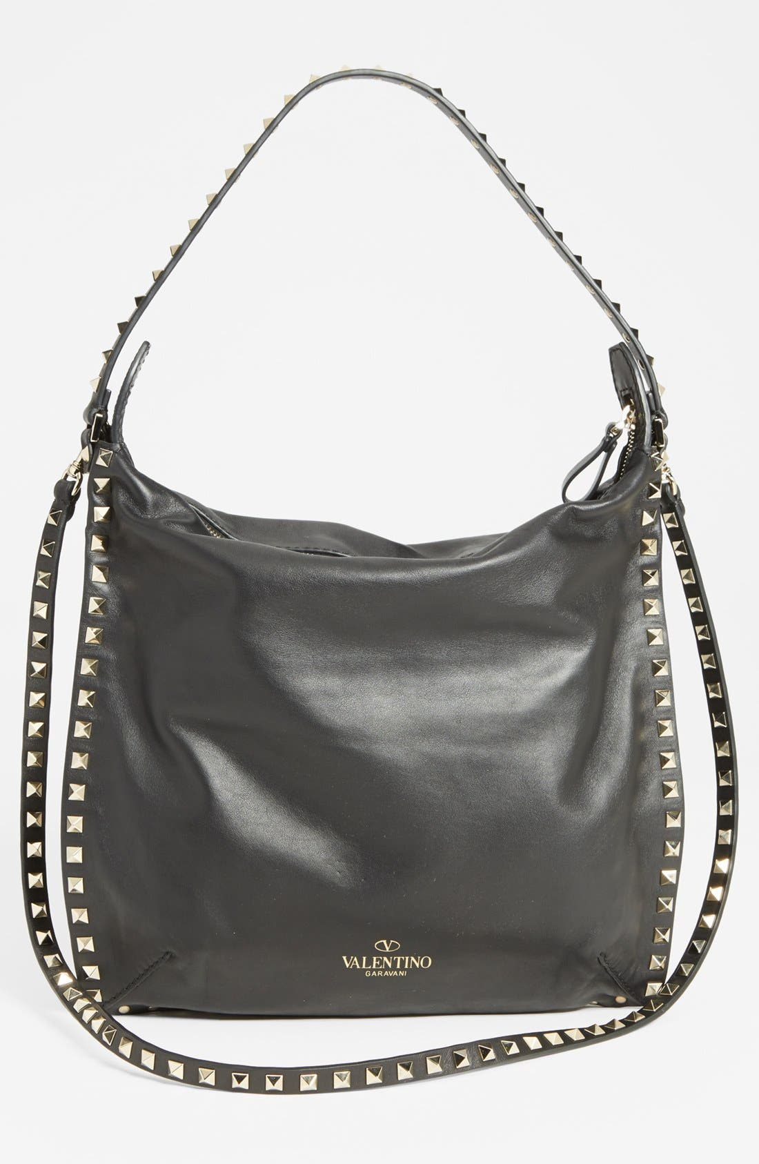 Alternate Image 4  - Valentino 'Small Rockstud' Leather Hobo