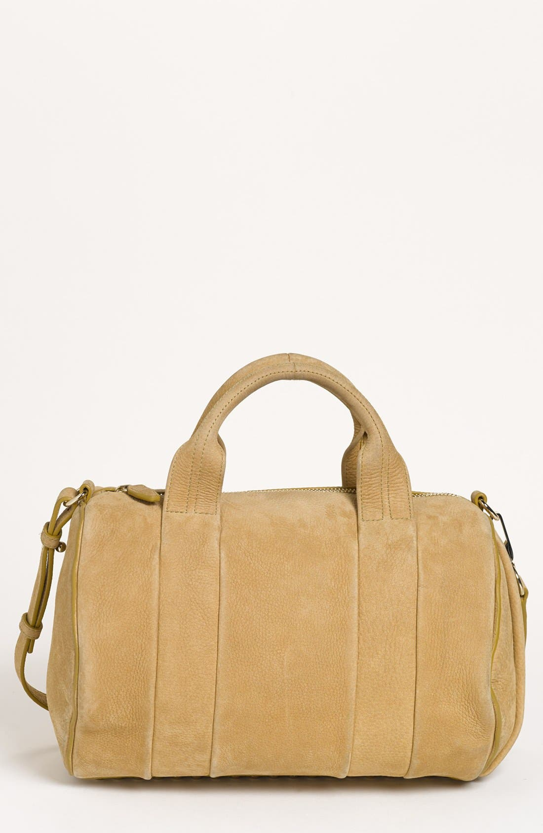 Alternate Image 1 Selected - Alexander Wang 'Rocco Dumbo Slick - Pale Gold' Leather Satchel