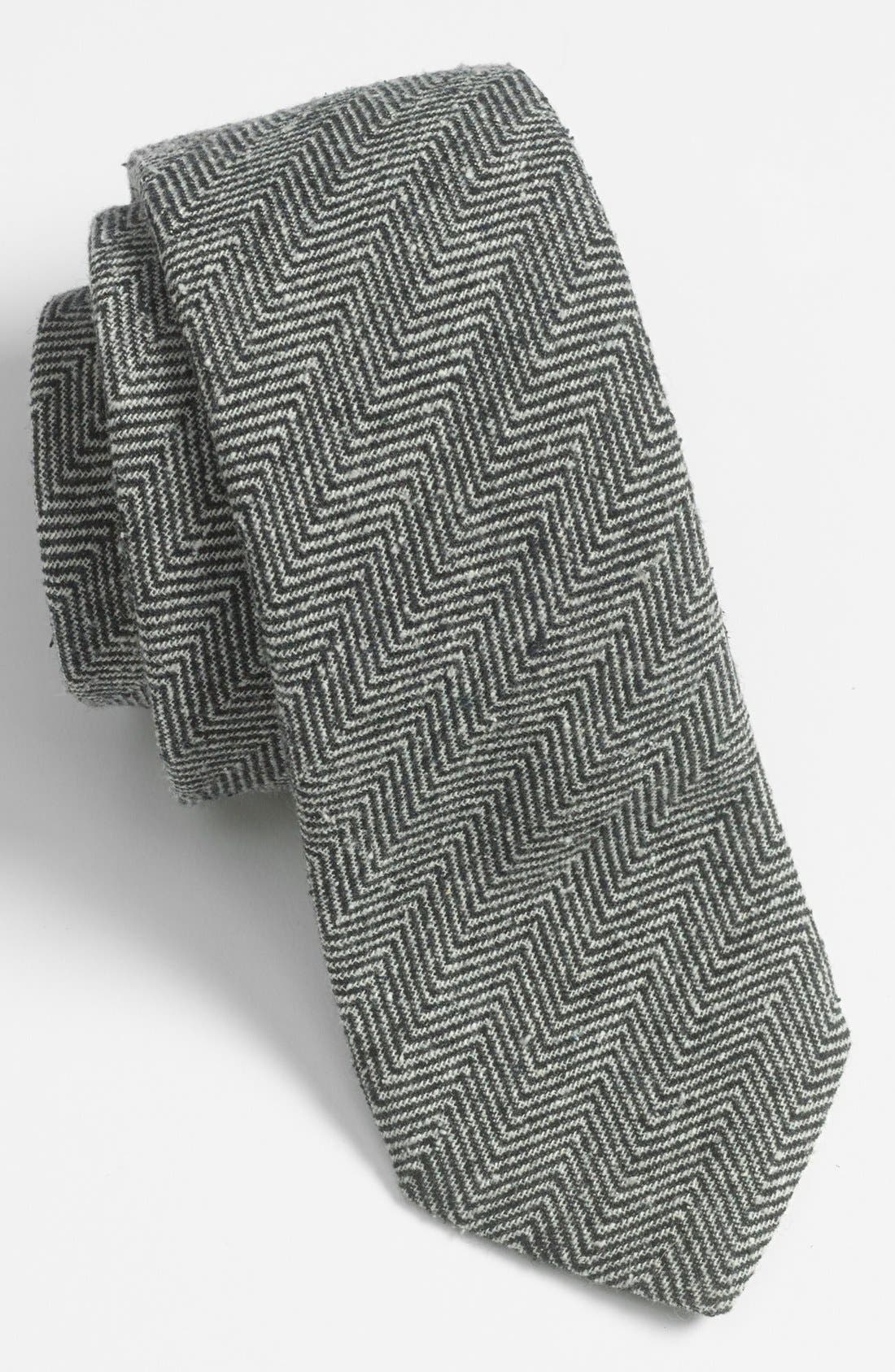 Main Image - Yves Saint Laurent Woven Herringbone Tie