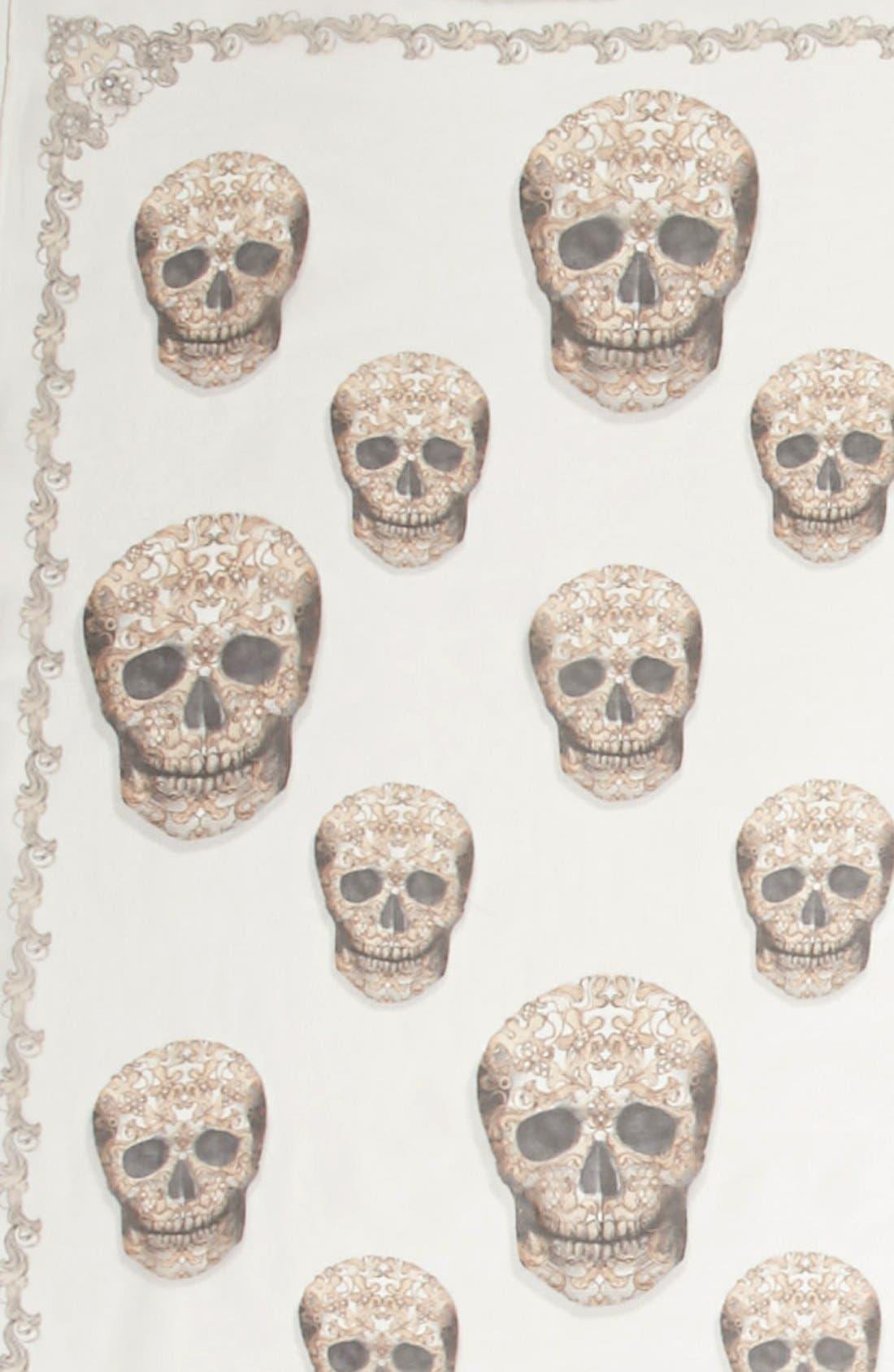 Alternate Image 3  - Alexander McQueen 'Lacy Skull' Scarf