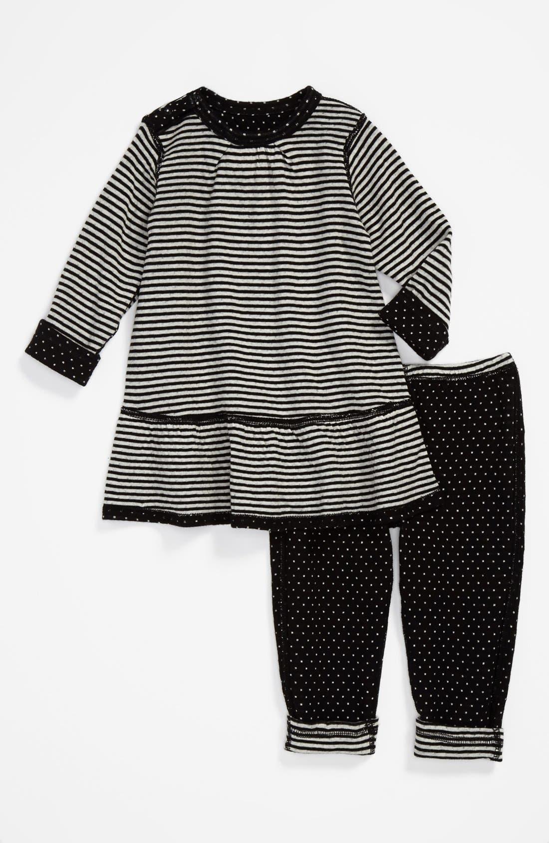 Alternate Image 2  - Nordstrom Baby Reversible Dress & Leggings (Baby Girls)