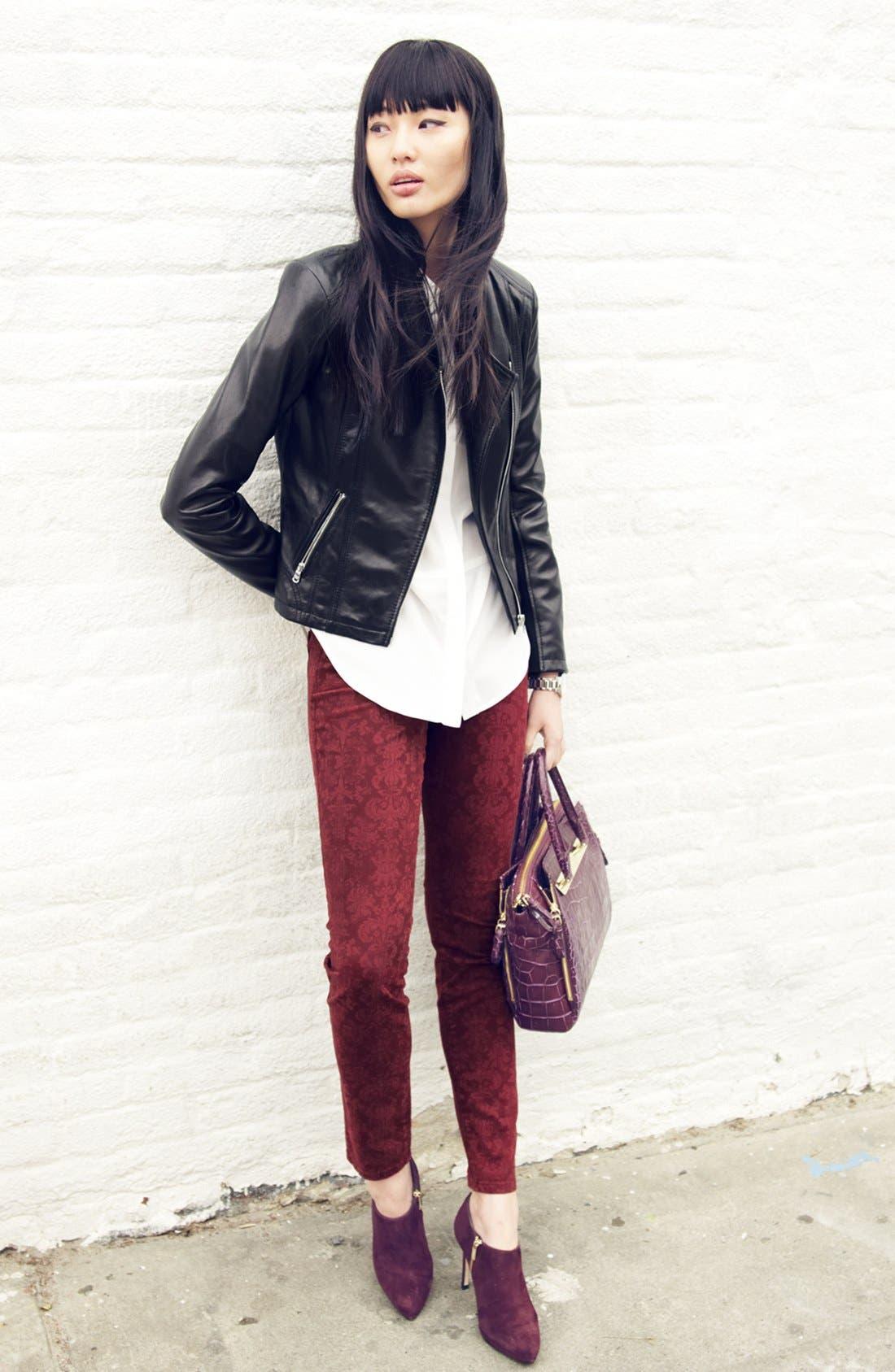 Main Image - NYDJ 'Alina' Print Stretch Twill Skinny Pants (Regular & Petite)