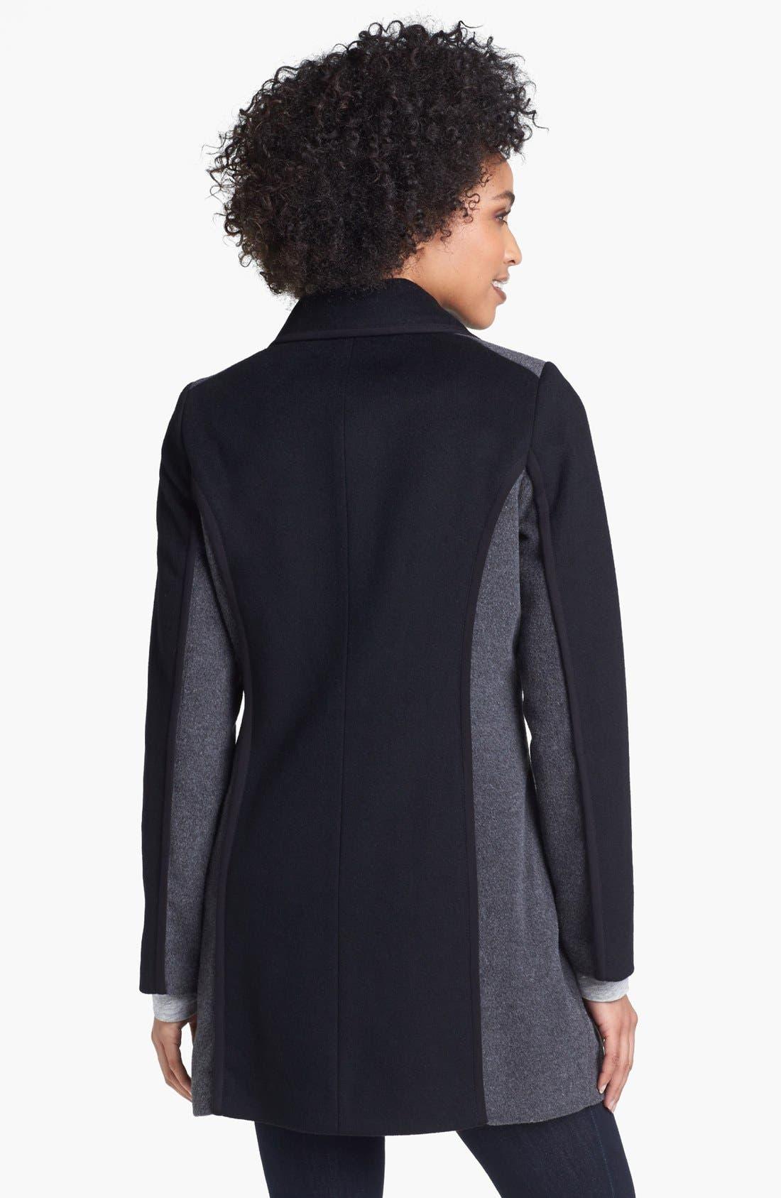 Alternate Image 2  - Kristen Blake Two Tone Wool Blend Walking Coat (Nordstrom Exclusive)