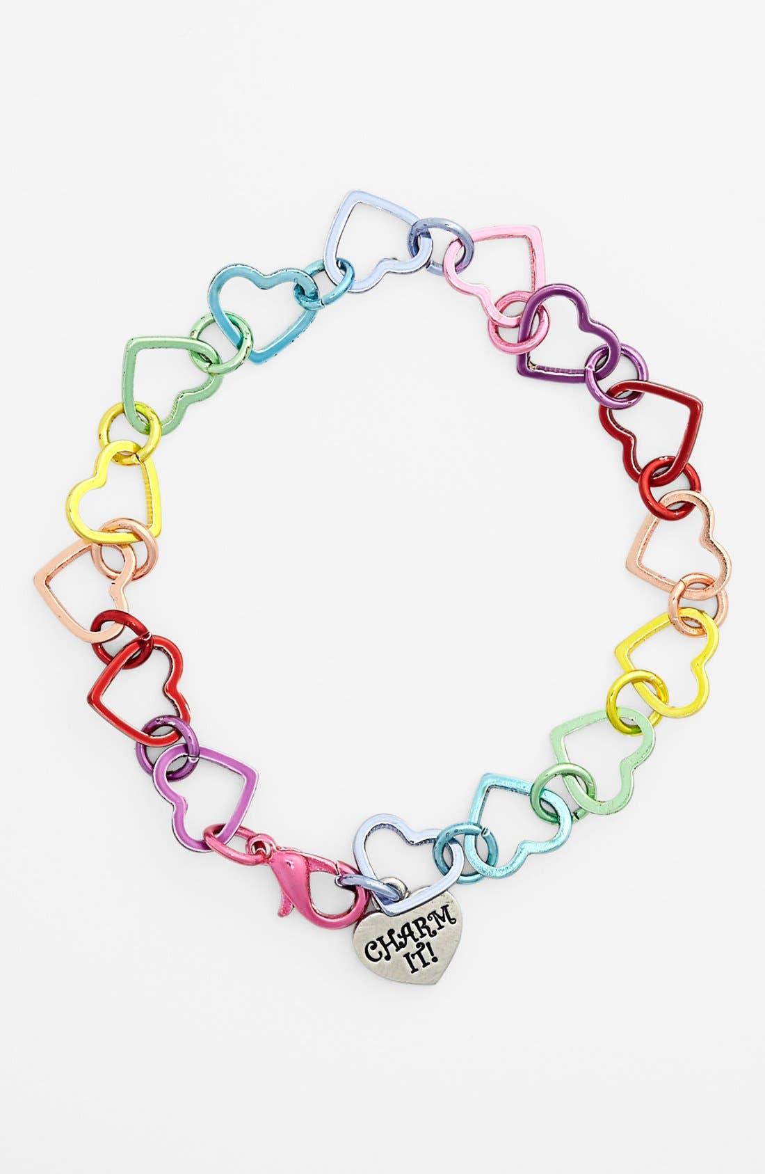Alternate Image 1 Selected - CHARM IT!® Heart Bracelet (Girls)