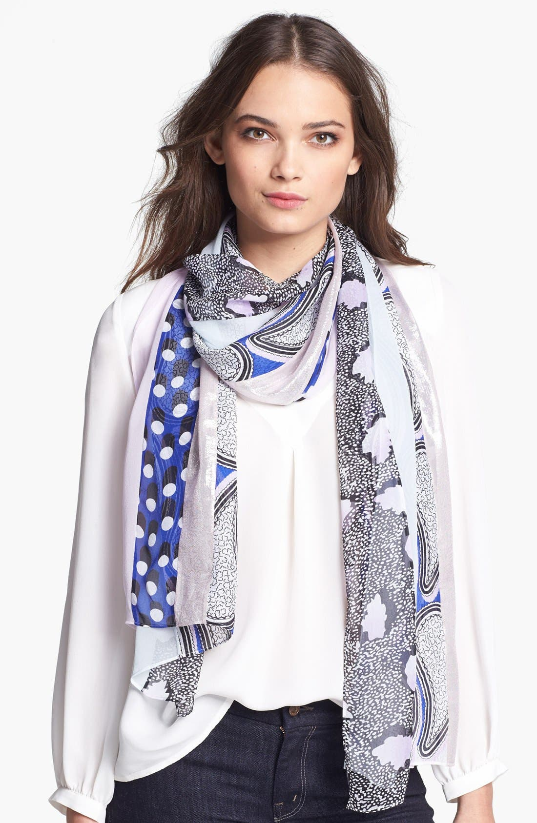Alternate Image 1 Selected - Diane von Furstenberg 'Boomerang' Silk Scarf