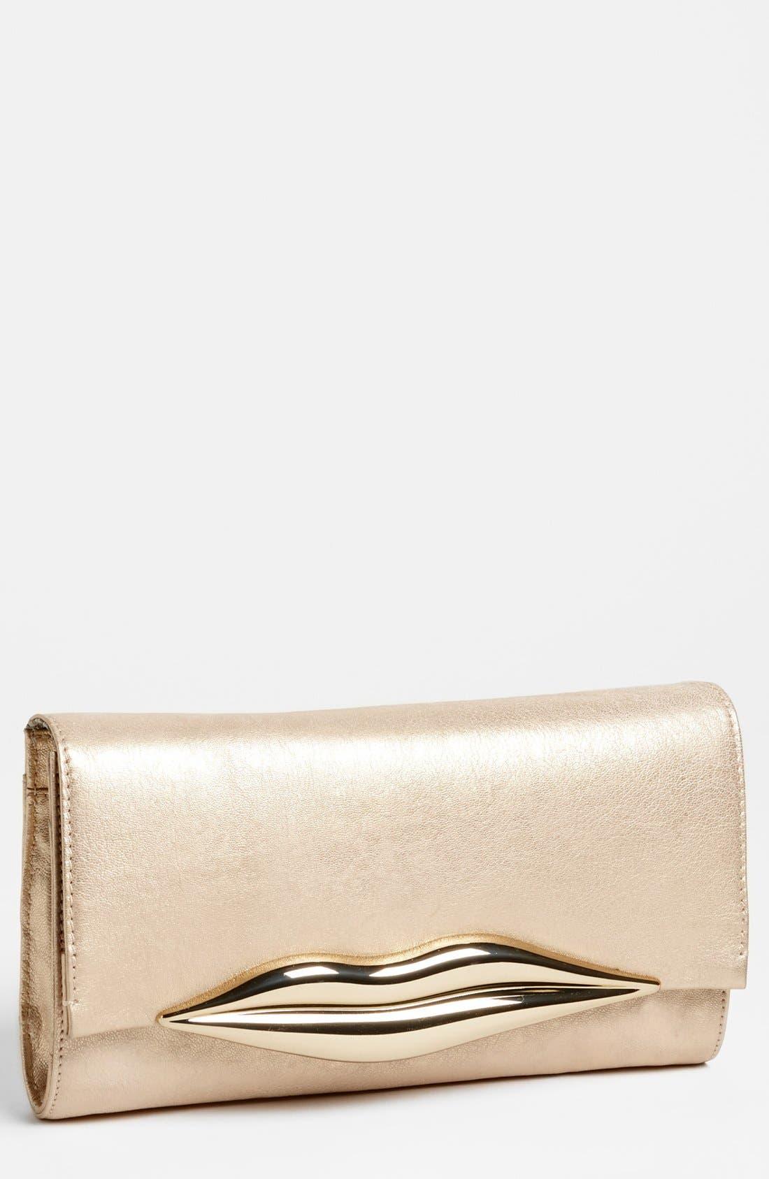 Alternate Image 1 Selected - Diane von Furstenberg 'Flirty' Leather Clutch
