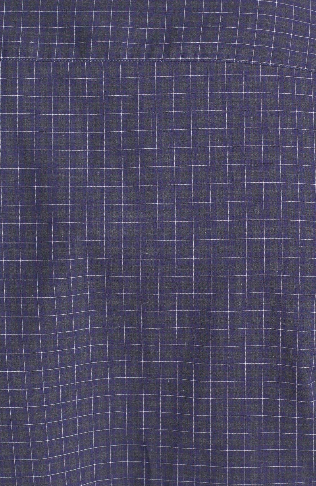 Alternate Image 3  - Z Zegna Colorblock Check Woven Shirt