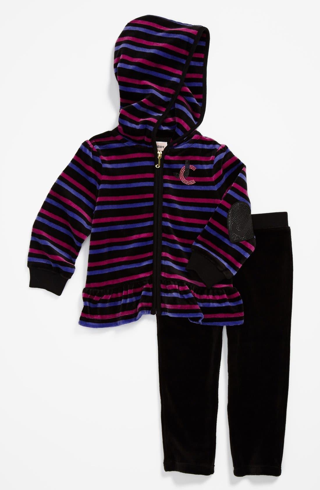 Alternate Image 1 Selected - Juicy Couture Hoodie & Pants (Baby Girls)