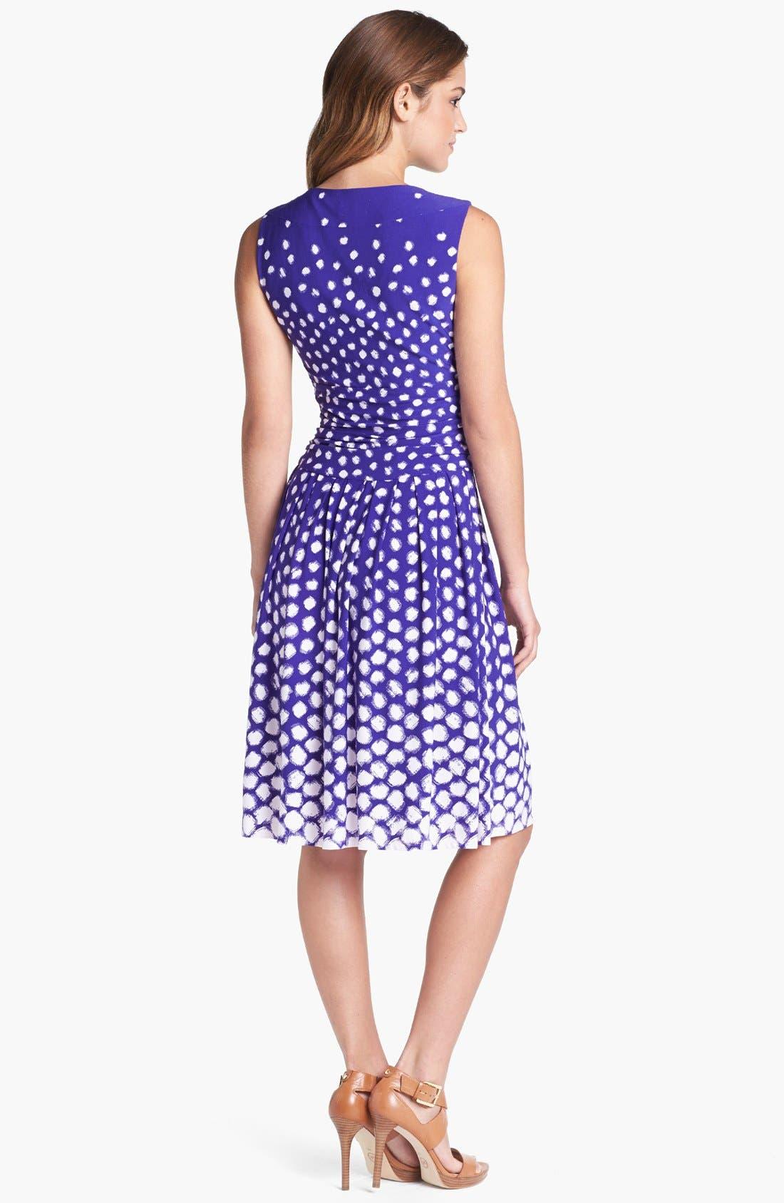 Alternate Image 2  - Eliza J Dot Print Fit & Flare Dress
