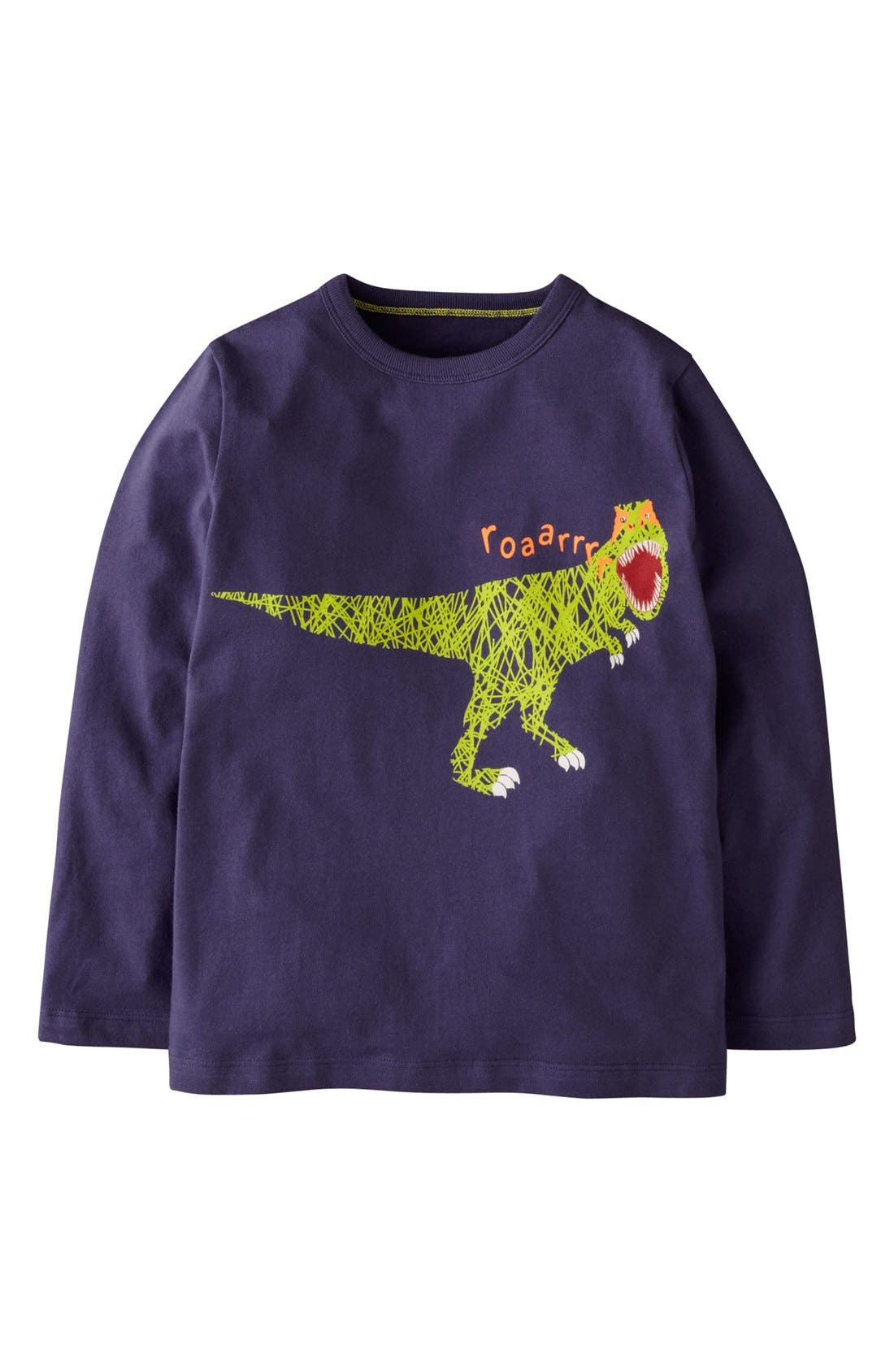 Main Image - Mini Boden 'Scribble Print' T-Shirt (Toddler Boys)