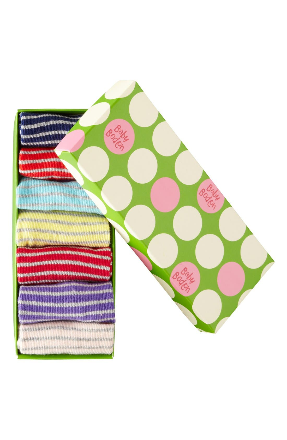 Alternate Image 2  - Mini Boden Socks (7-Pack) (Baby)