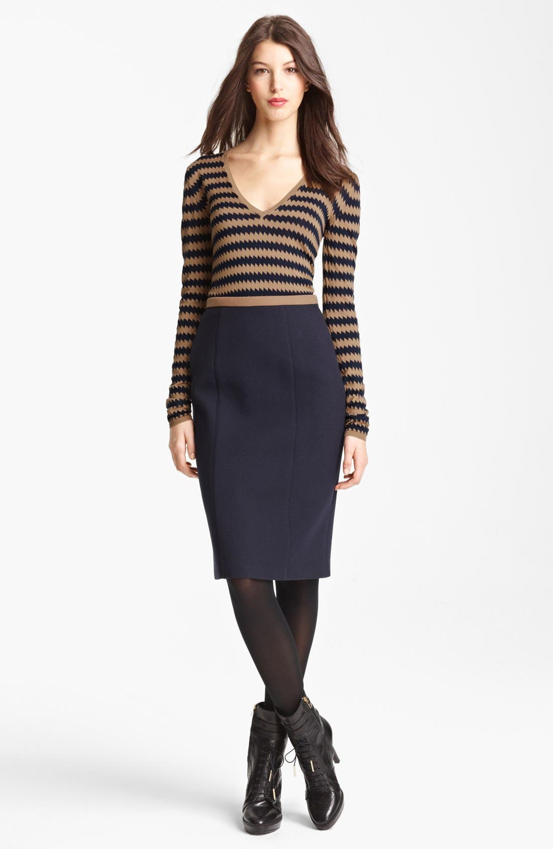 Alternate Image 4  - Burberry Prorsum Zigzag Silk Knit Sweater