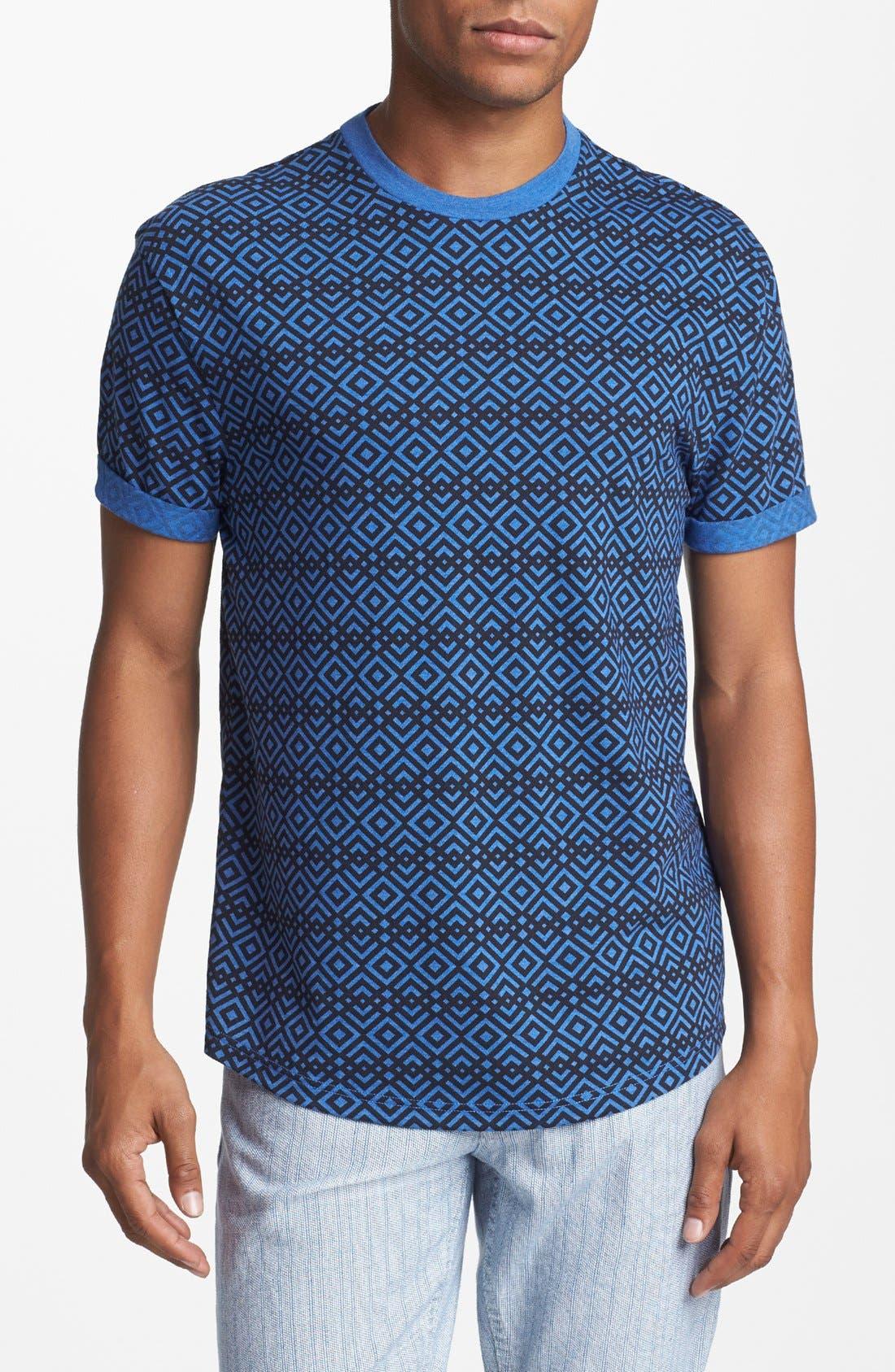 Alternate Image 1 Selected - Topman Crisscross Print T-Shirt