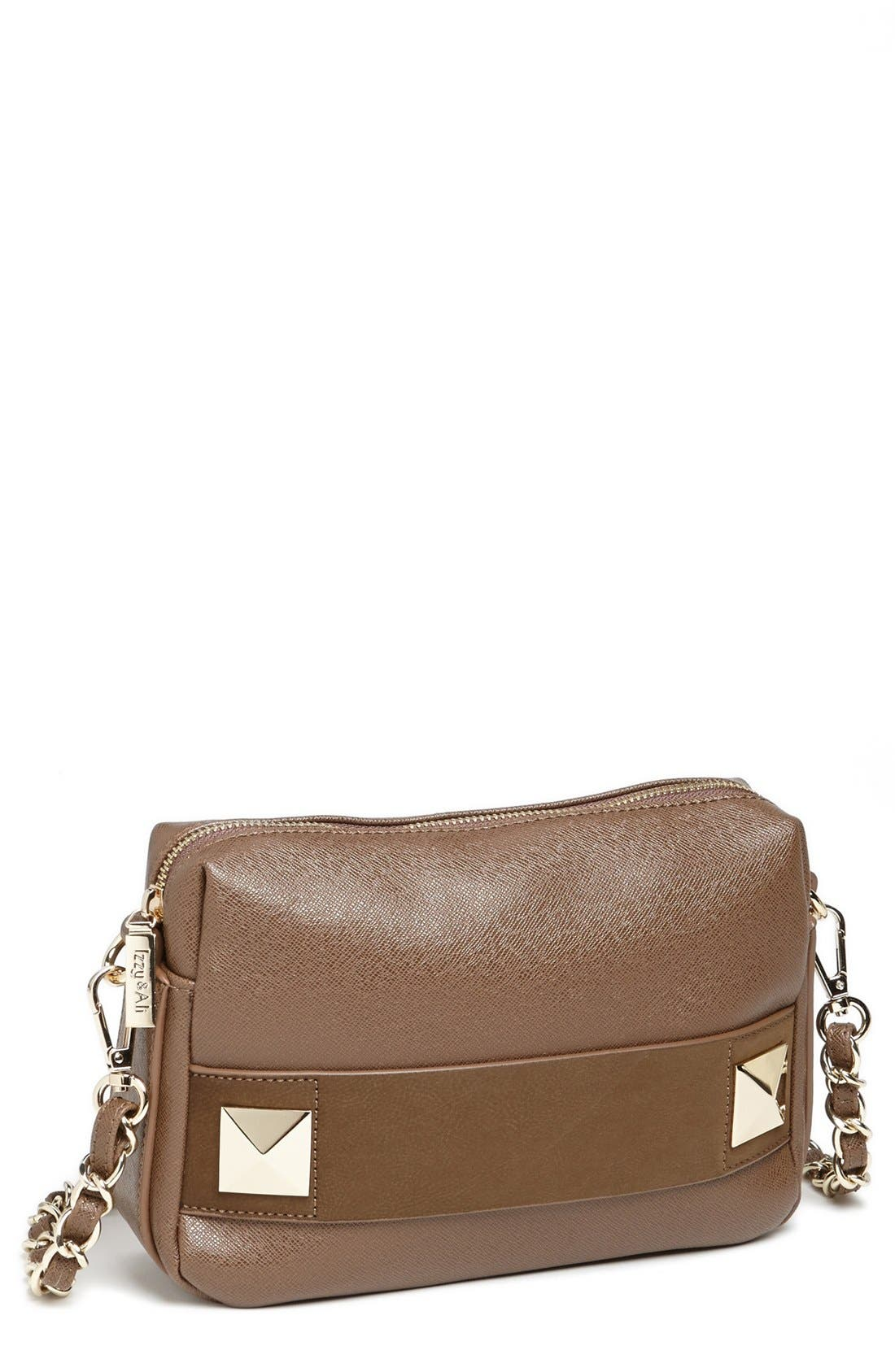 Alternate Image 1 Selected - Izzy & Ali 'Ella' Faux Leather Crossbody Bag