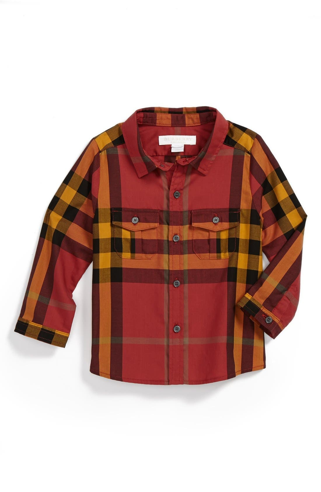 Alternate Image 1 Selected - Burberry Woven Shirt (Baby Boys)