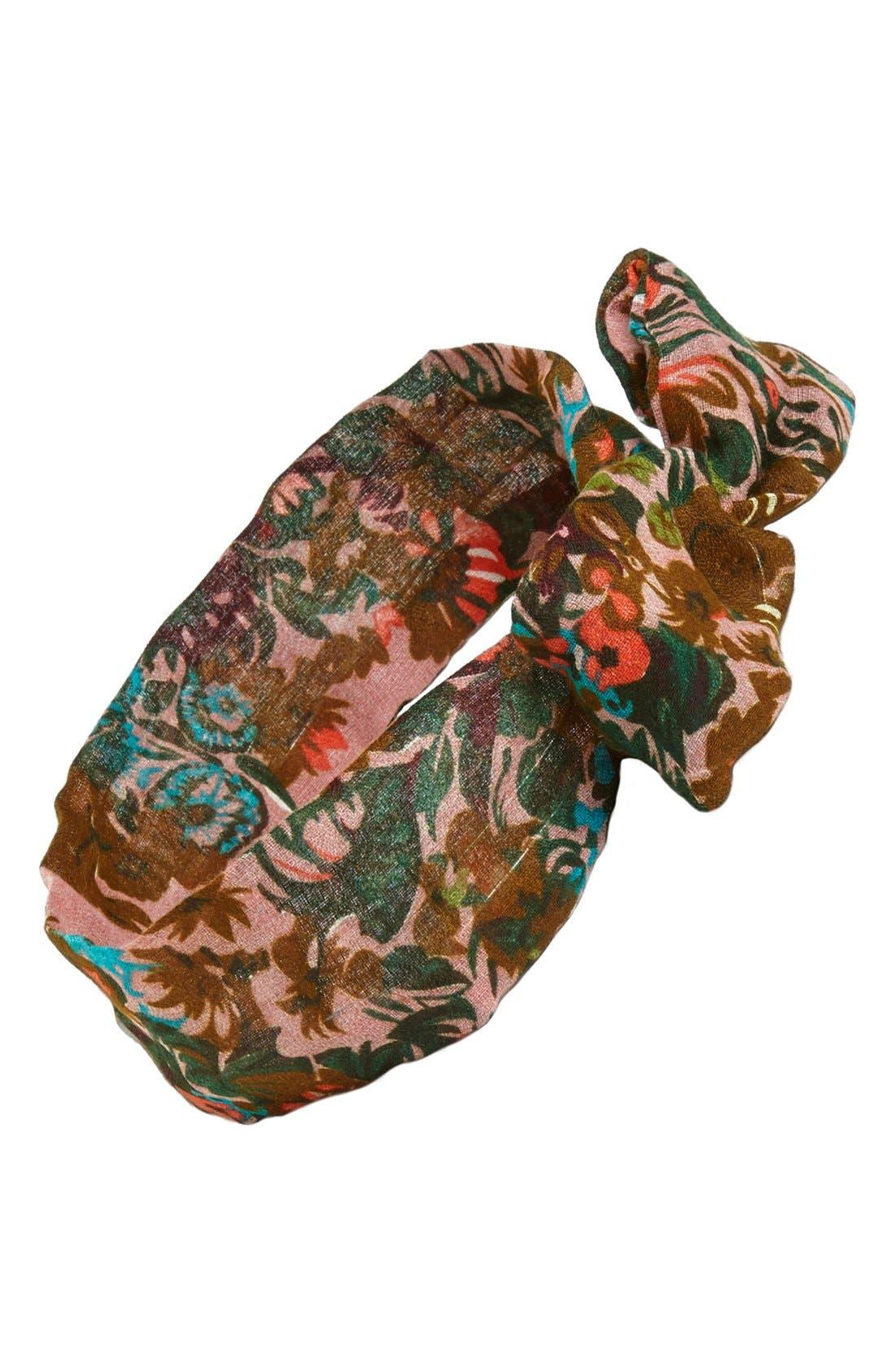 Main Image - Tasha Floral Print Wire Head Wrap