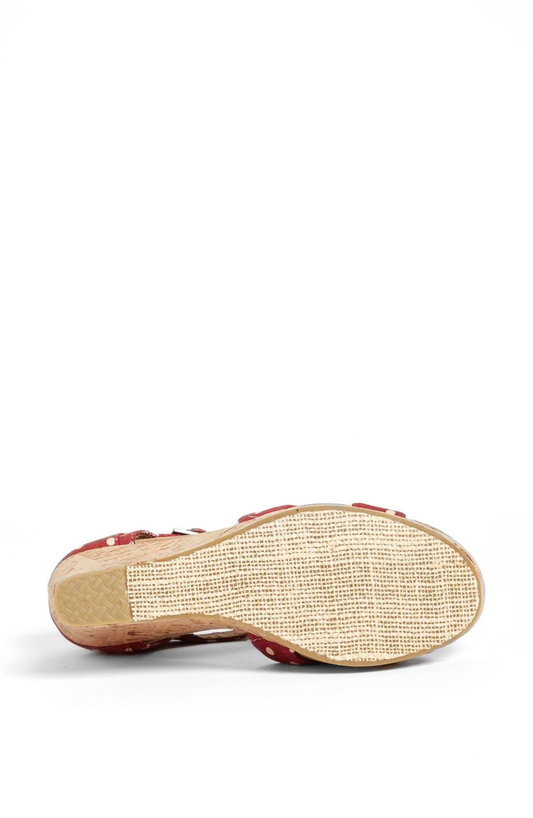 Alternate Image 4  - TOMS Polka Dot Linen Woven Wedge Sandal