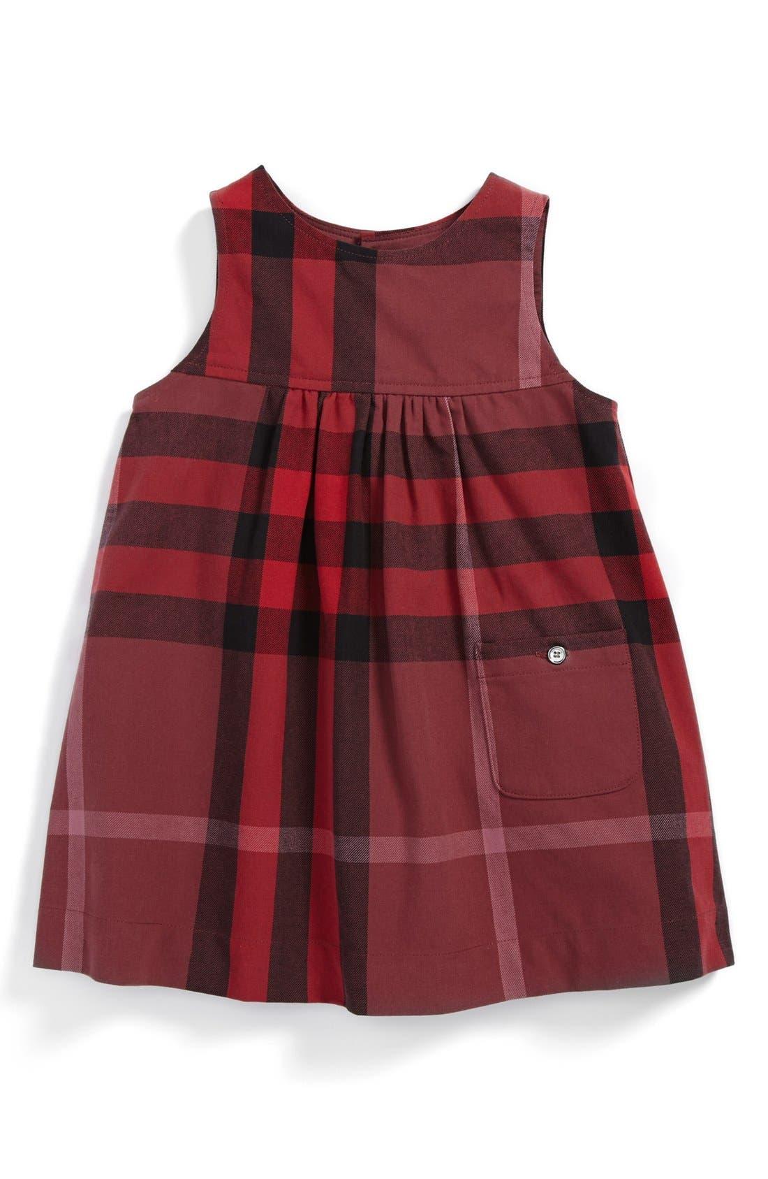 Alternate Image 1 Selected - Burberry 'Della' Dress (Baby Girls)