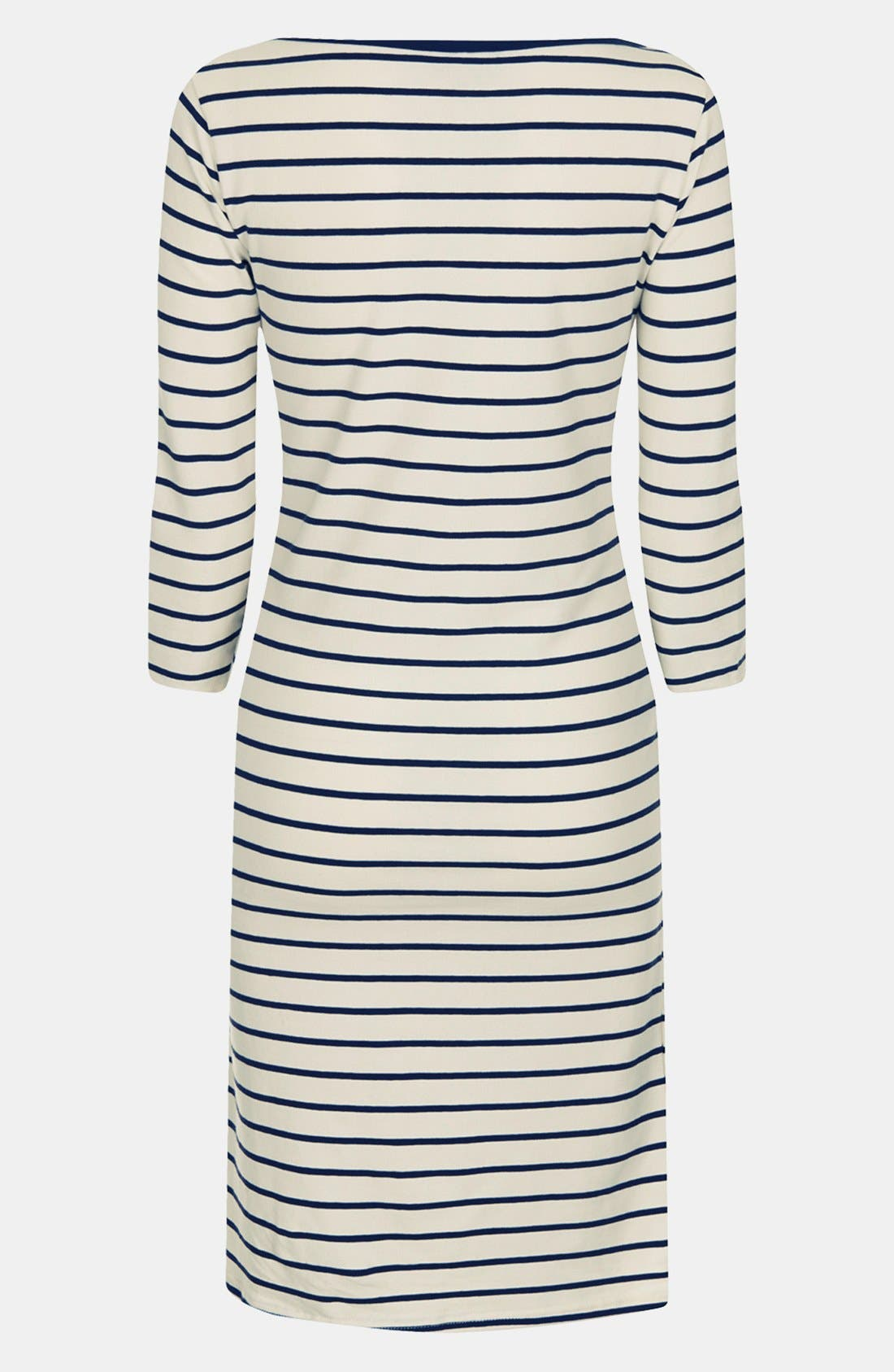 Alternate Image 2  - Topshop Breton Stripe Body-Con Maternity Dress
