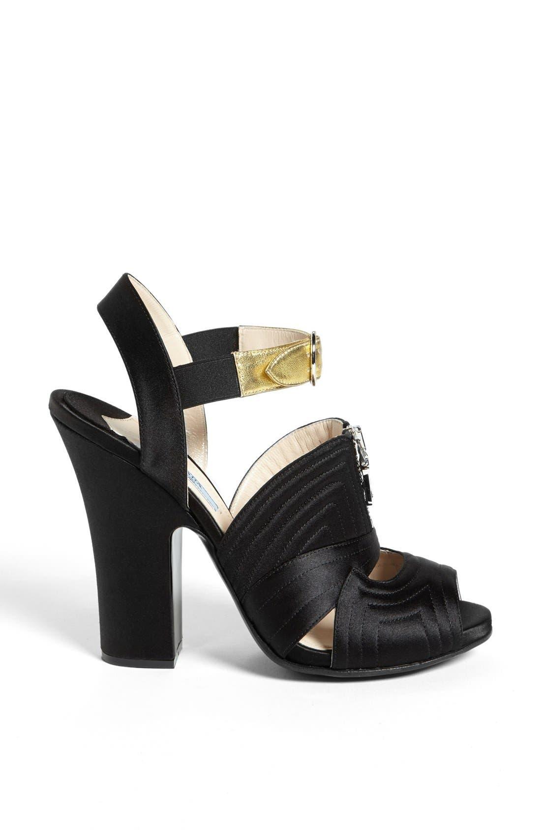 Alternate Image 4  - Prada Quilted Zipper Sandal