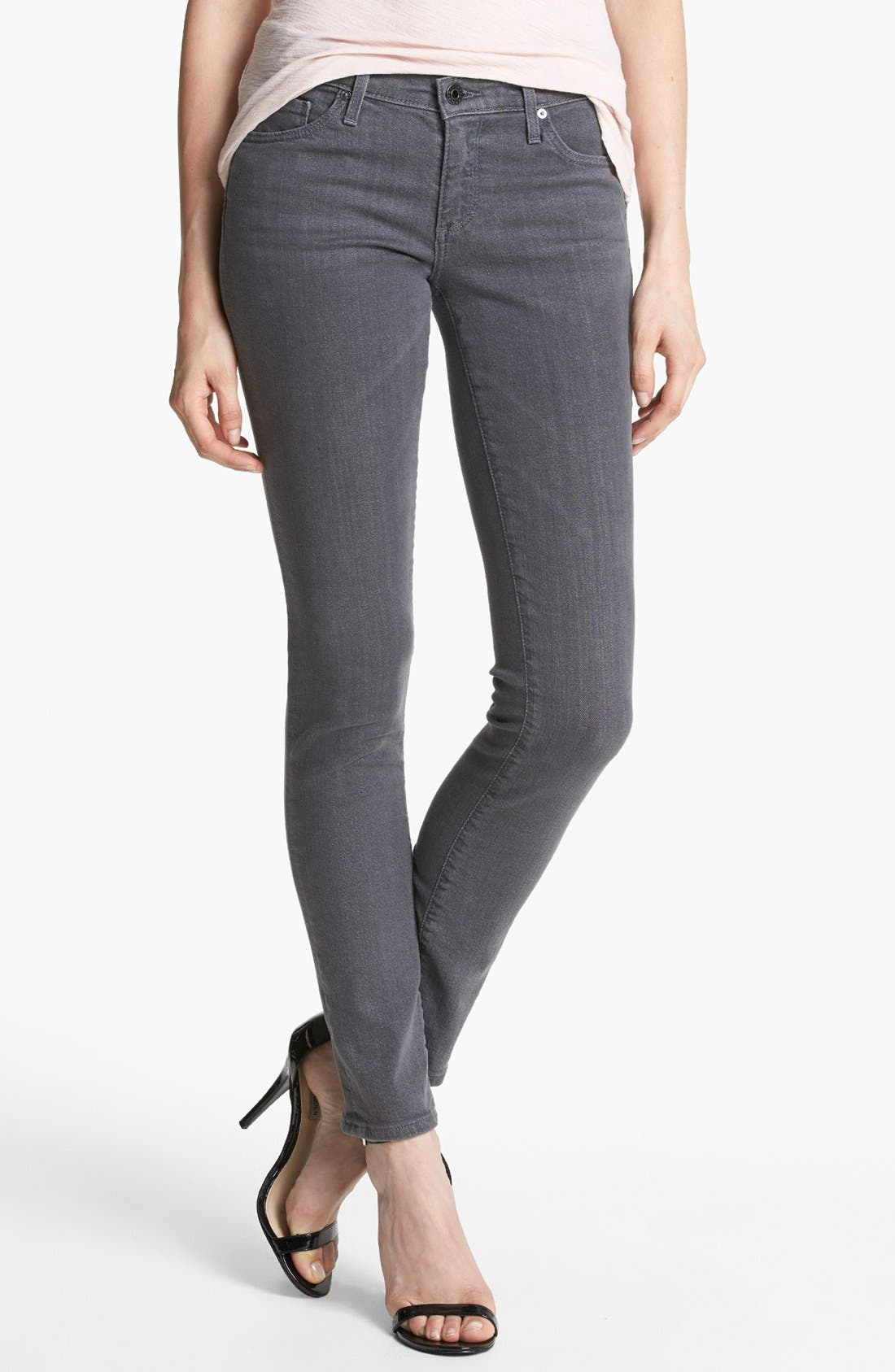 Alternate Image 1 Selected - AG Super Skinny Jeans (Stoneway)