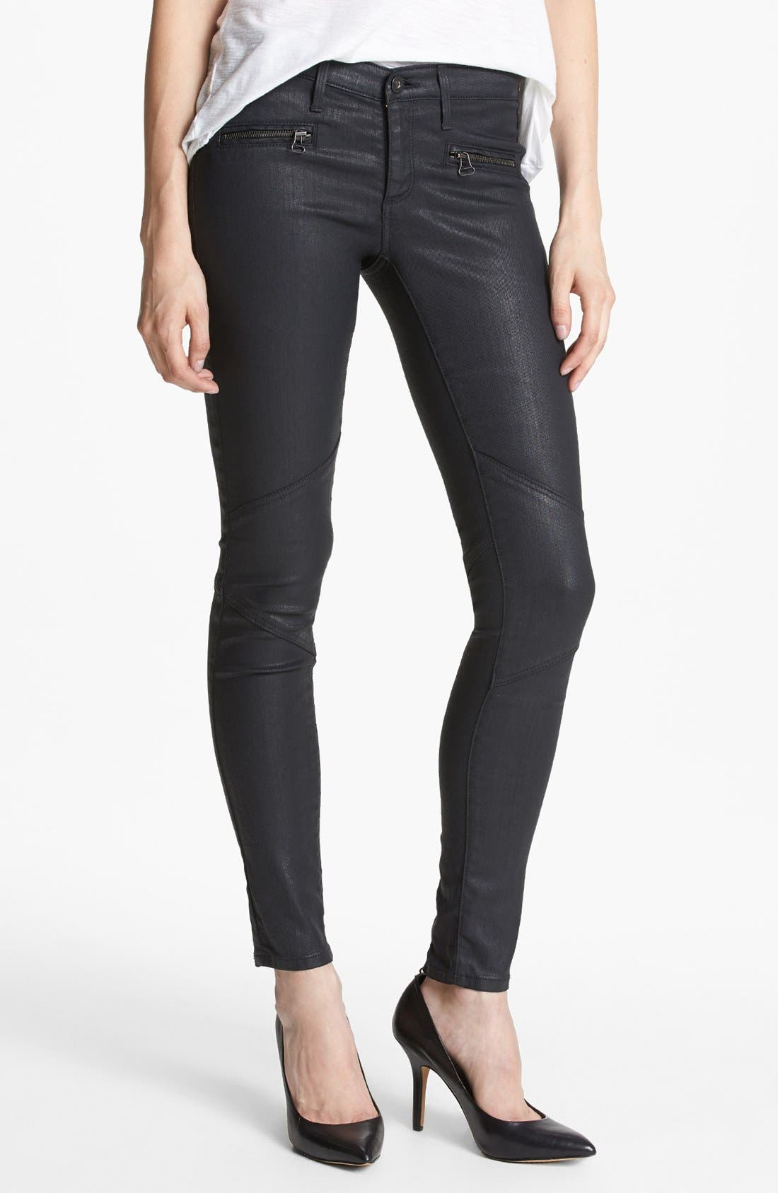 Main Image - AG 'The Motto' Coated Ankle Leggings (BSC)