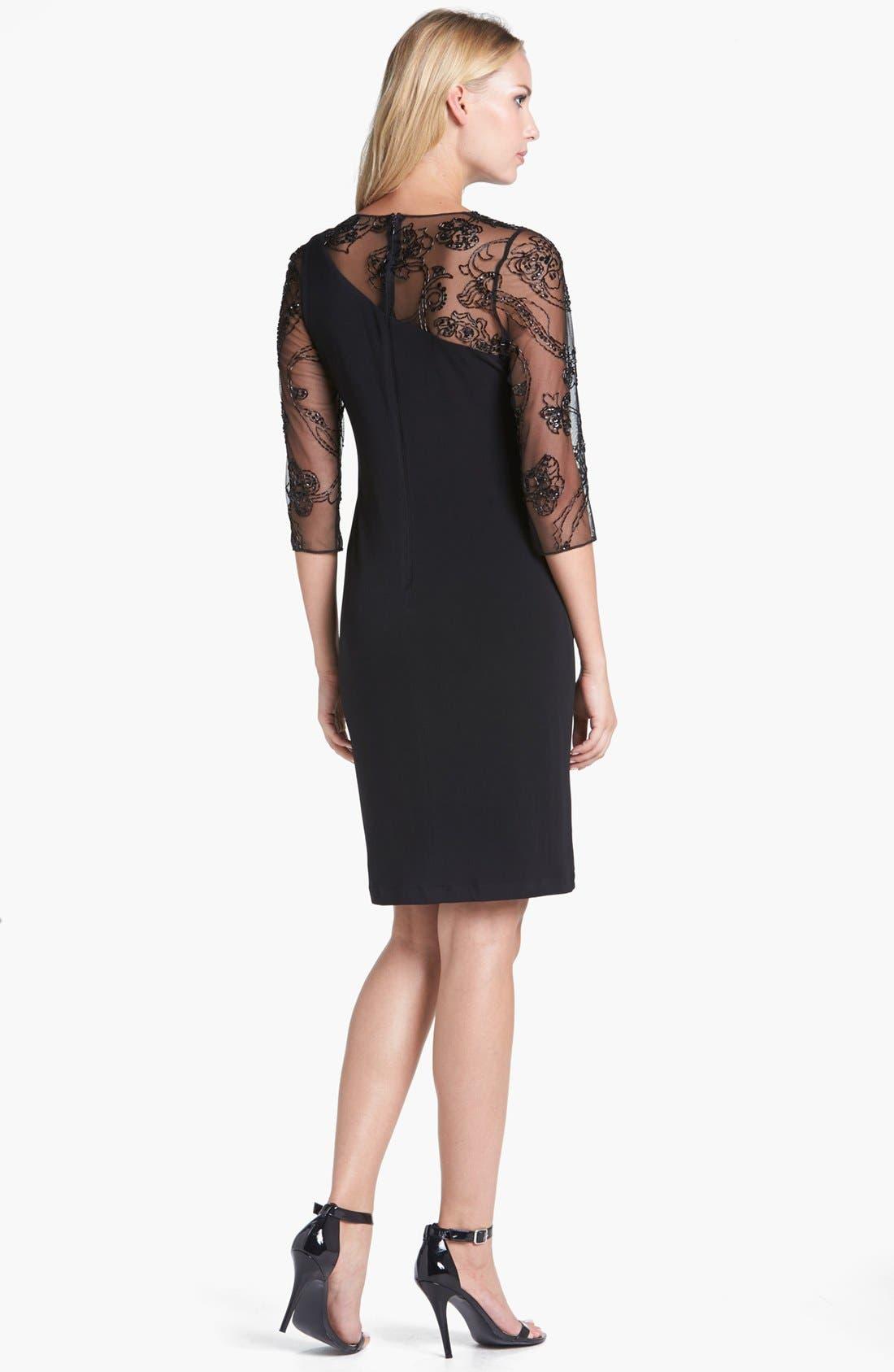 Alternate Image 2  - Patra Illusion Yoke Jersey Dress