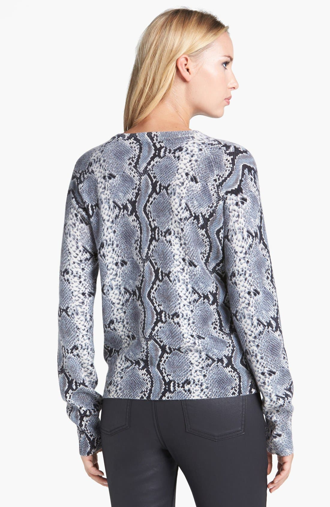 Alternate Image 2  - Pure Amici Snake Print Cashmere Sweater