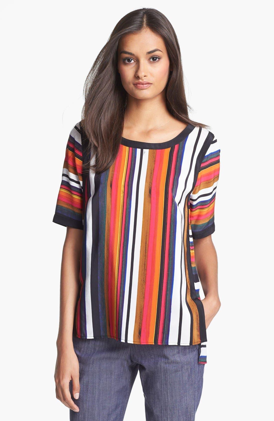 Main Image - Trina Turk 'Pathway' Stripe Silk Top