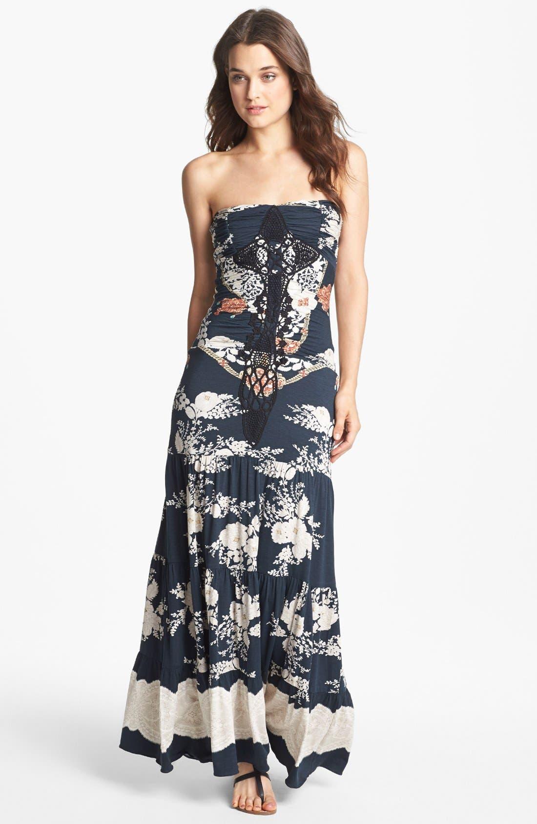 Main Image - Sky Print Embellished Maxi Dress