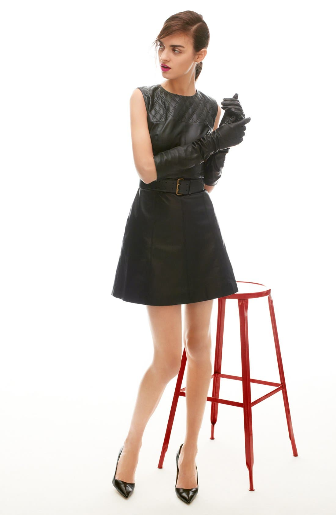 Alternate Image 4  - Miss Wu Leather Dress (Nordstrom Exclusive)