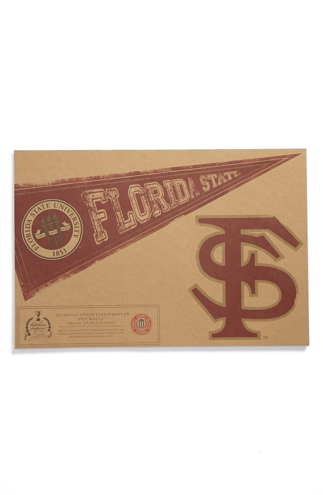 Alternate Image 1 Selected - Kitchen Papers by Cake 'Pennant - Florida State Seminoles' Paper Placemat Pad