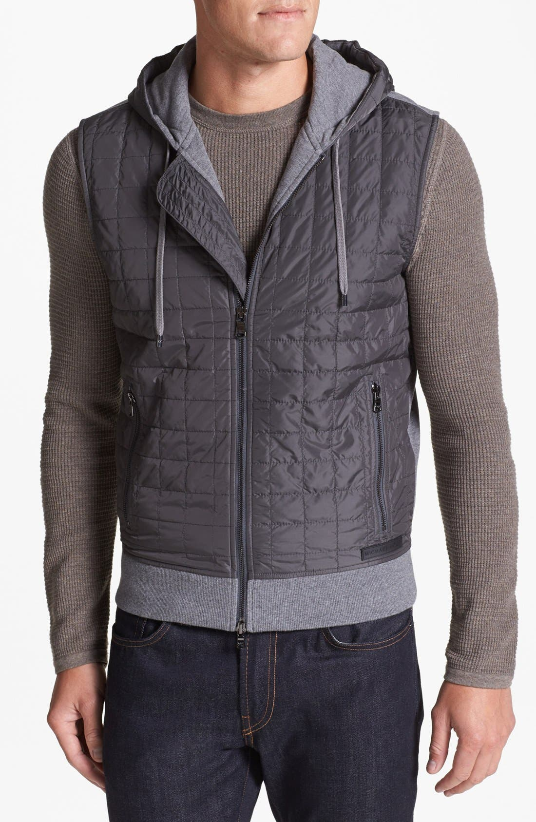 Alternate Image 1 Selected - Michael Kors Quilted Hooded Vest