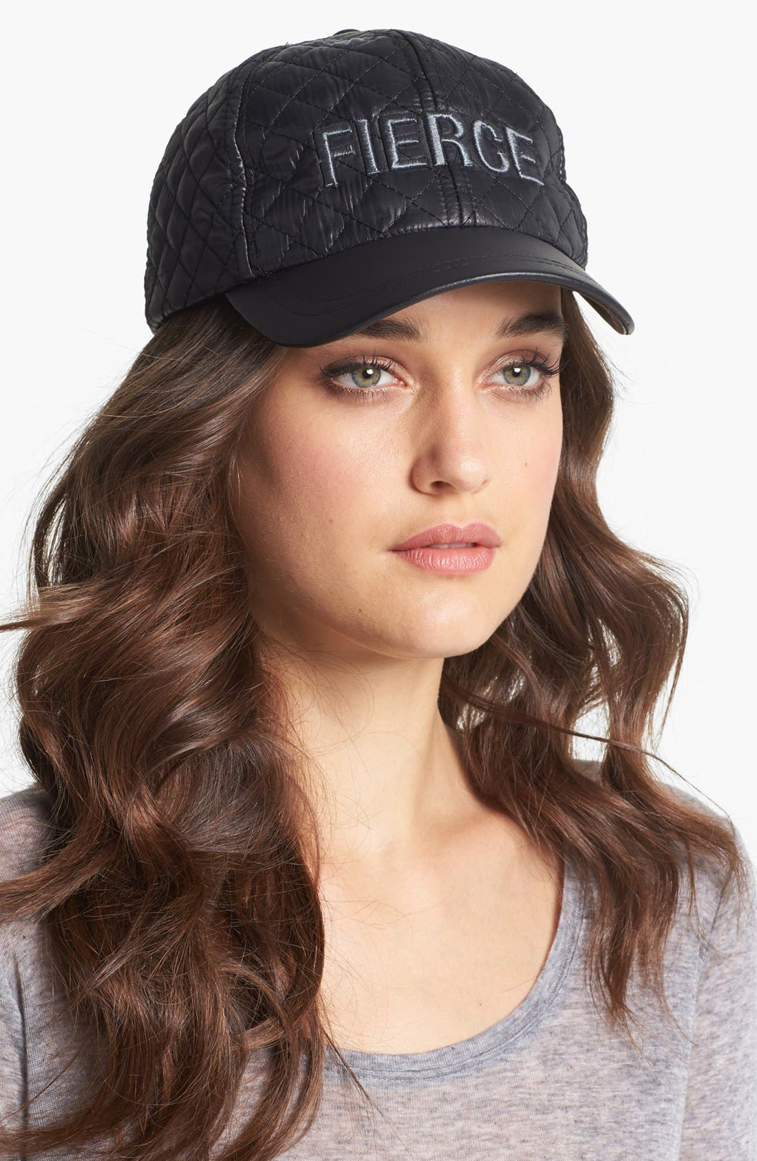 Main Image - BCBGeneration 'Fierce' Quilted Baseball Cap