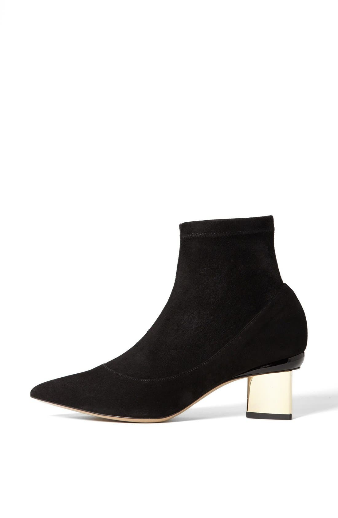 Alternate Image 4  - Nicholas Kirkwood Stretch Suede Bootie
